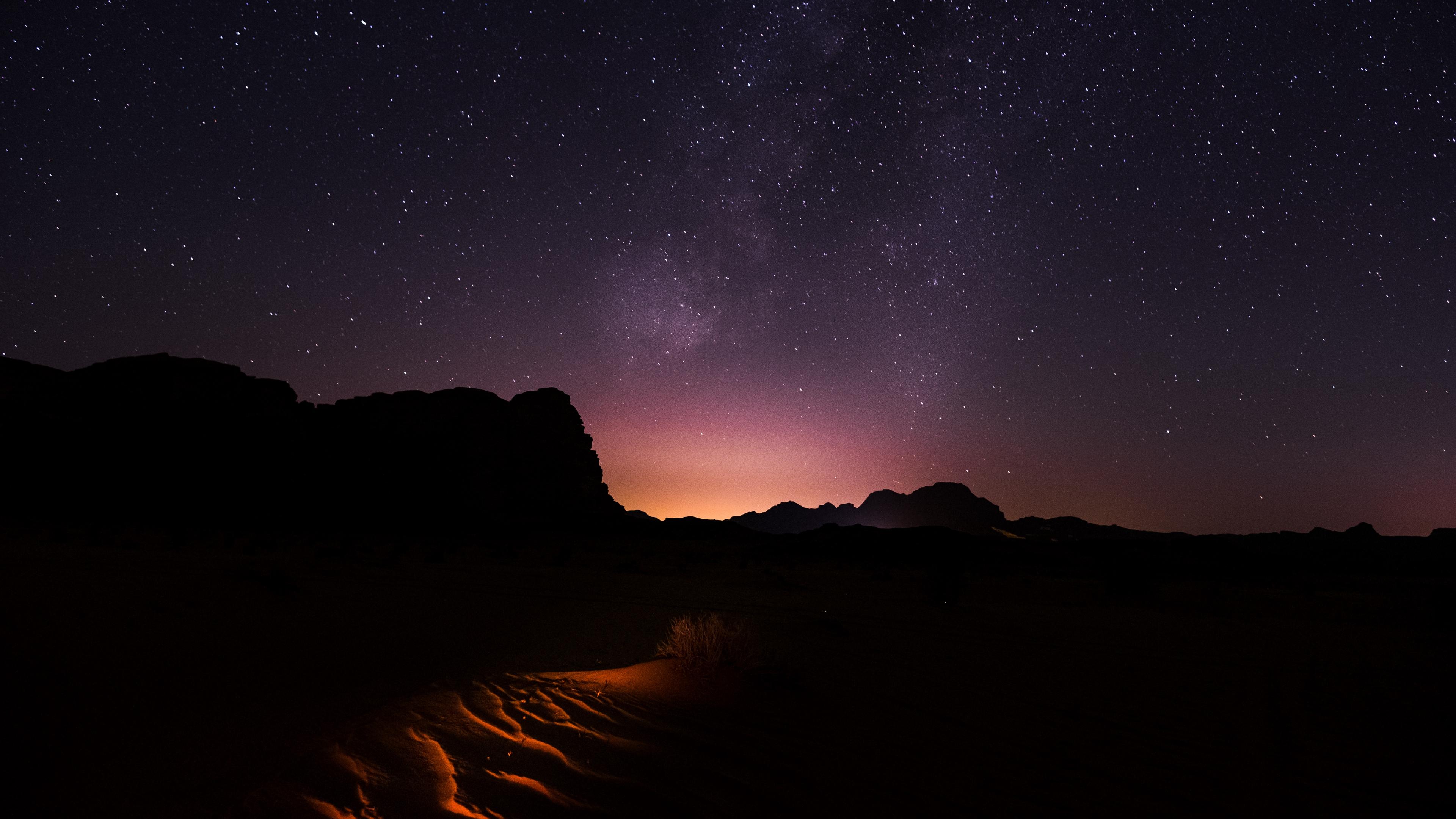 starry sky desert night wadi rum jordan 4k 1541115245 - starry sky, desert, night, wadi rum, jordan 4k - starry sky, Night, Desert