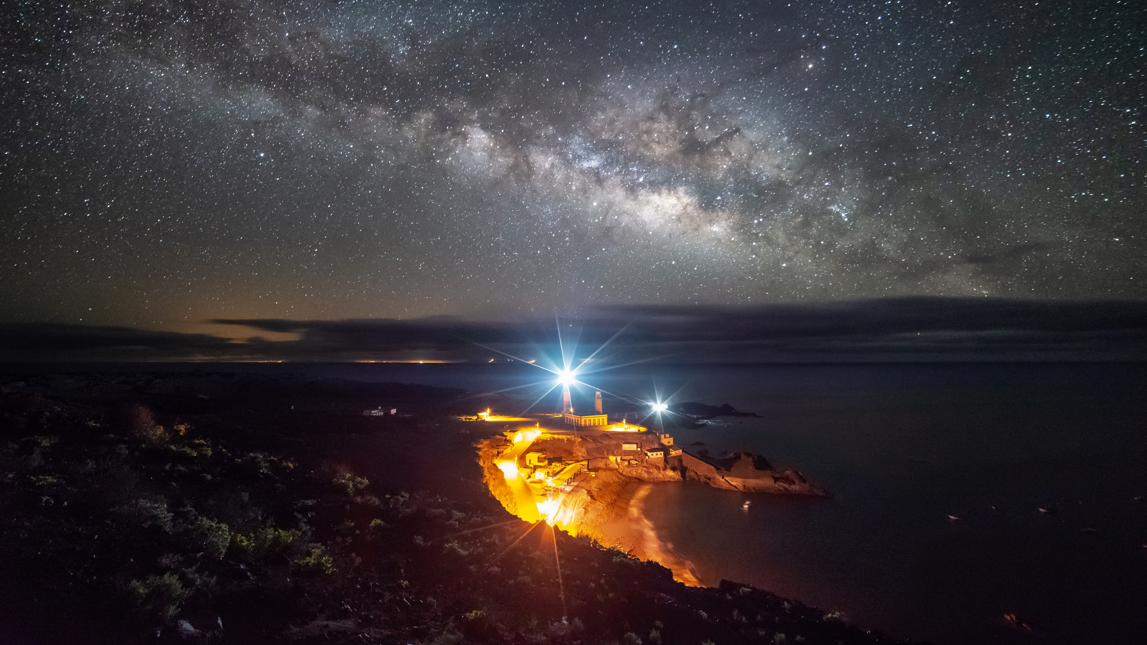 starry sky la palma spain night lighting 4k 1541117252 - starry sky, la palma, spain, night, lighting 4k - starry sky, Spain, la palma
