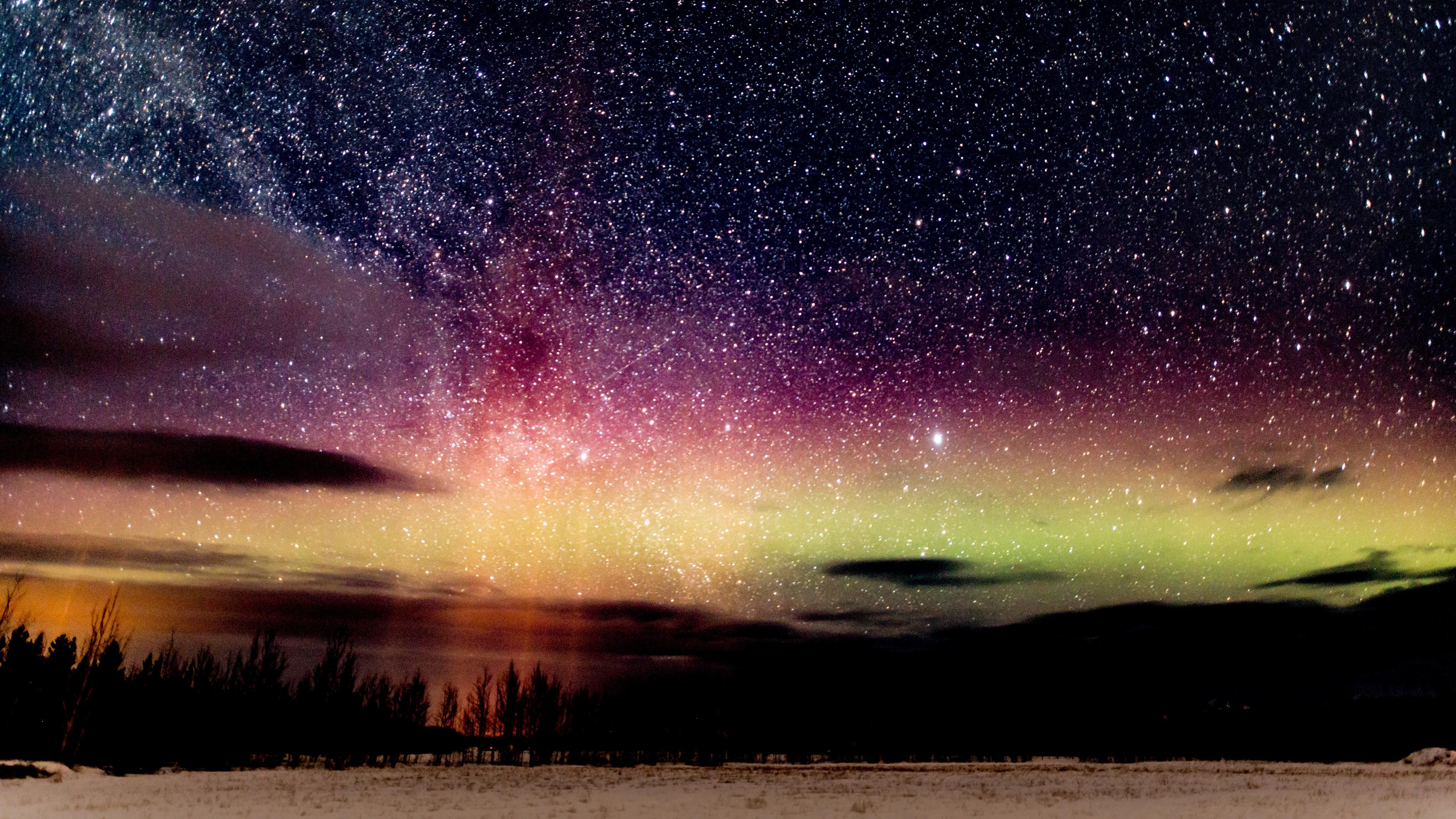 starry sky night stars glitter 4k 1541116585 - starry sky, night, stars, glitter 4k - Stars, starry sky, Night