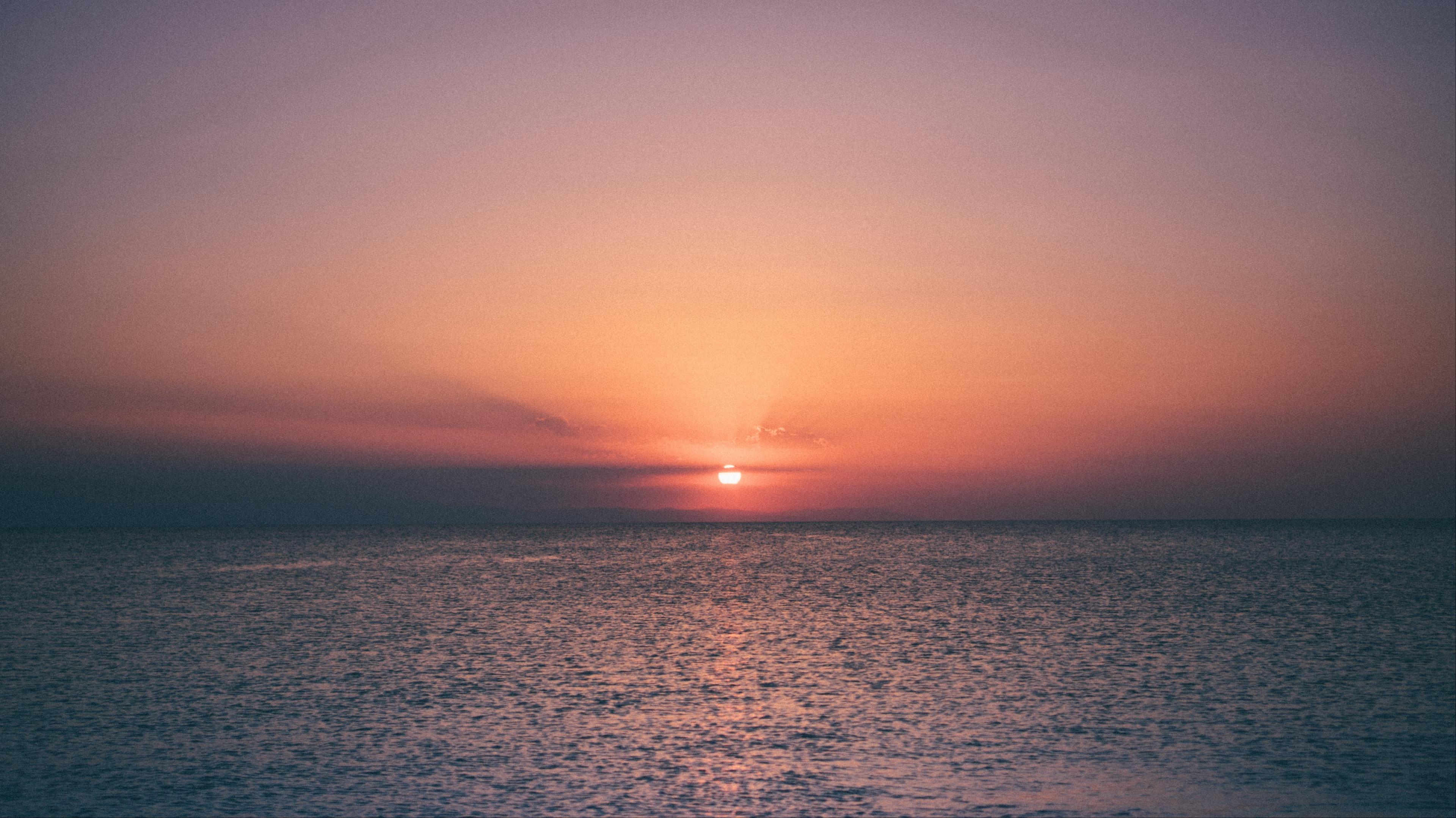 sunset horizon sea 4k 1541114029 - sunset, horizon, sea 4k - sunset, Sea, Horizon