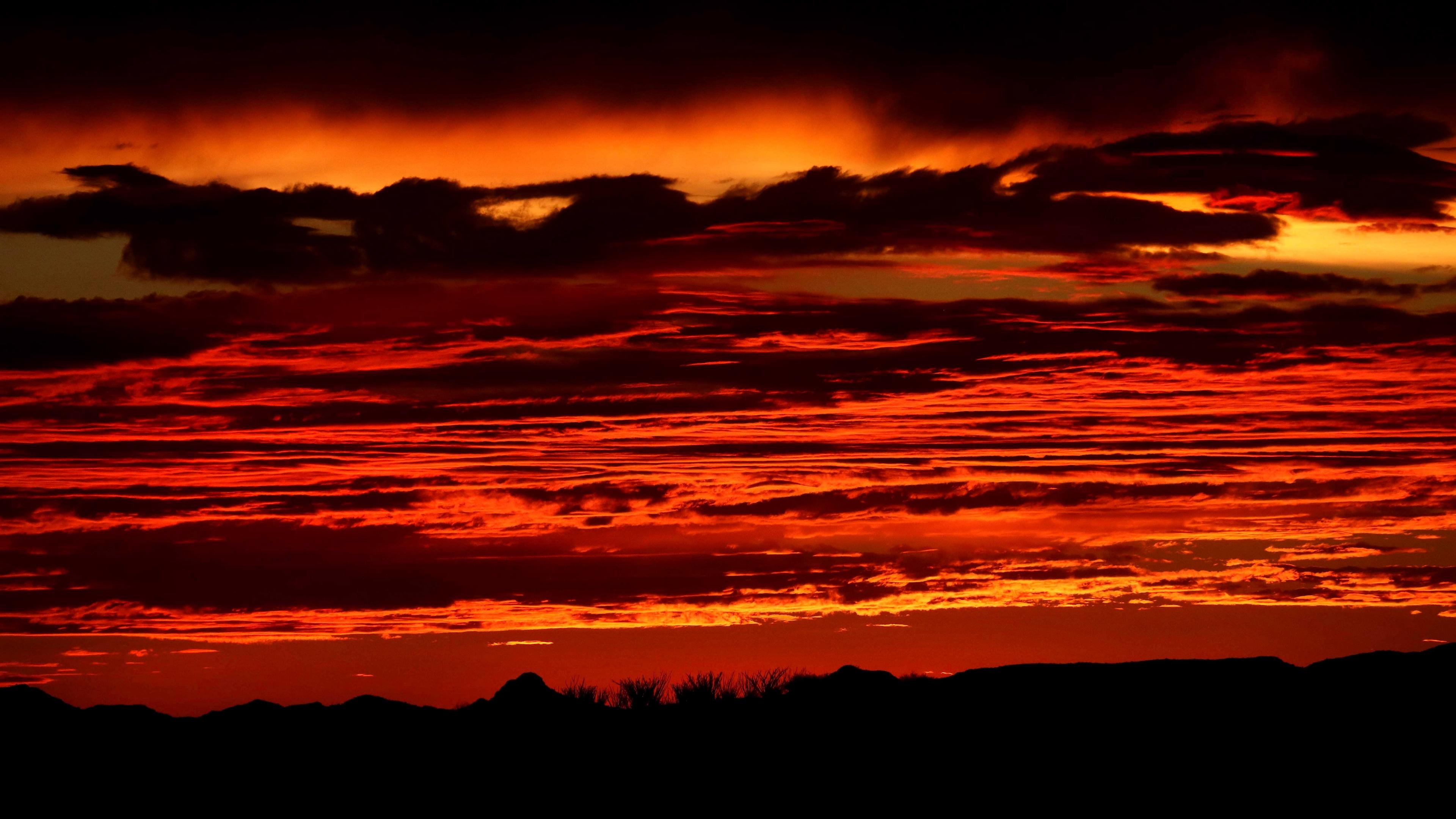 sunset horizon sky night red 4k 1541116062 - sunset, horizon, sky, night, red 4k - sunset, Sky, Horizon