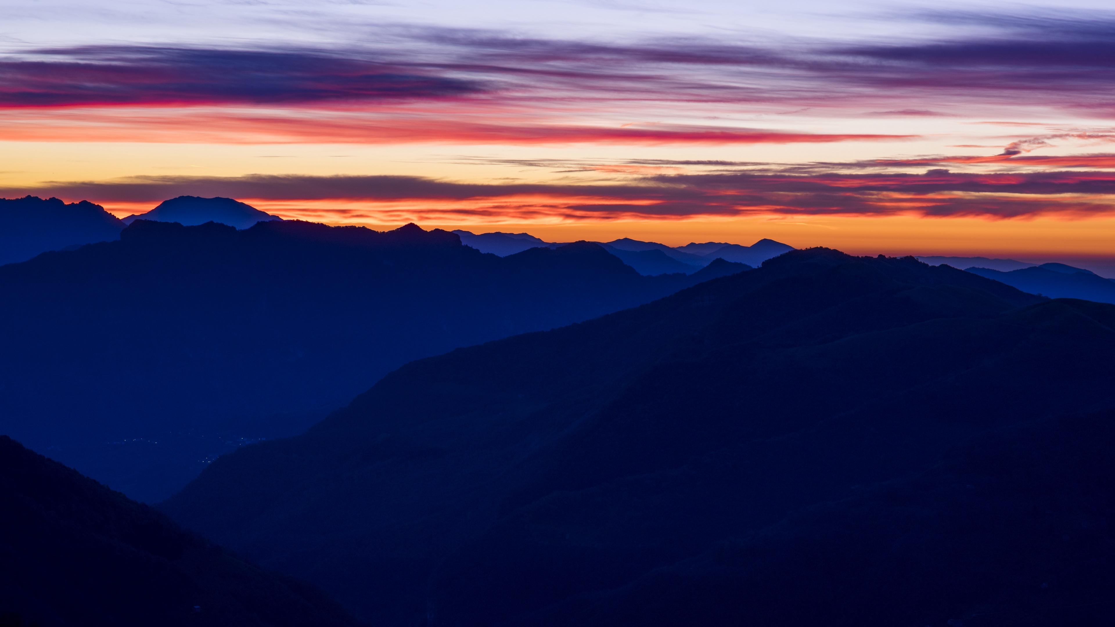 sunset mountains sky 4k 1541114512 - sunset, mountains, sky 4k - sunset, Sky, Mountains