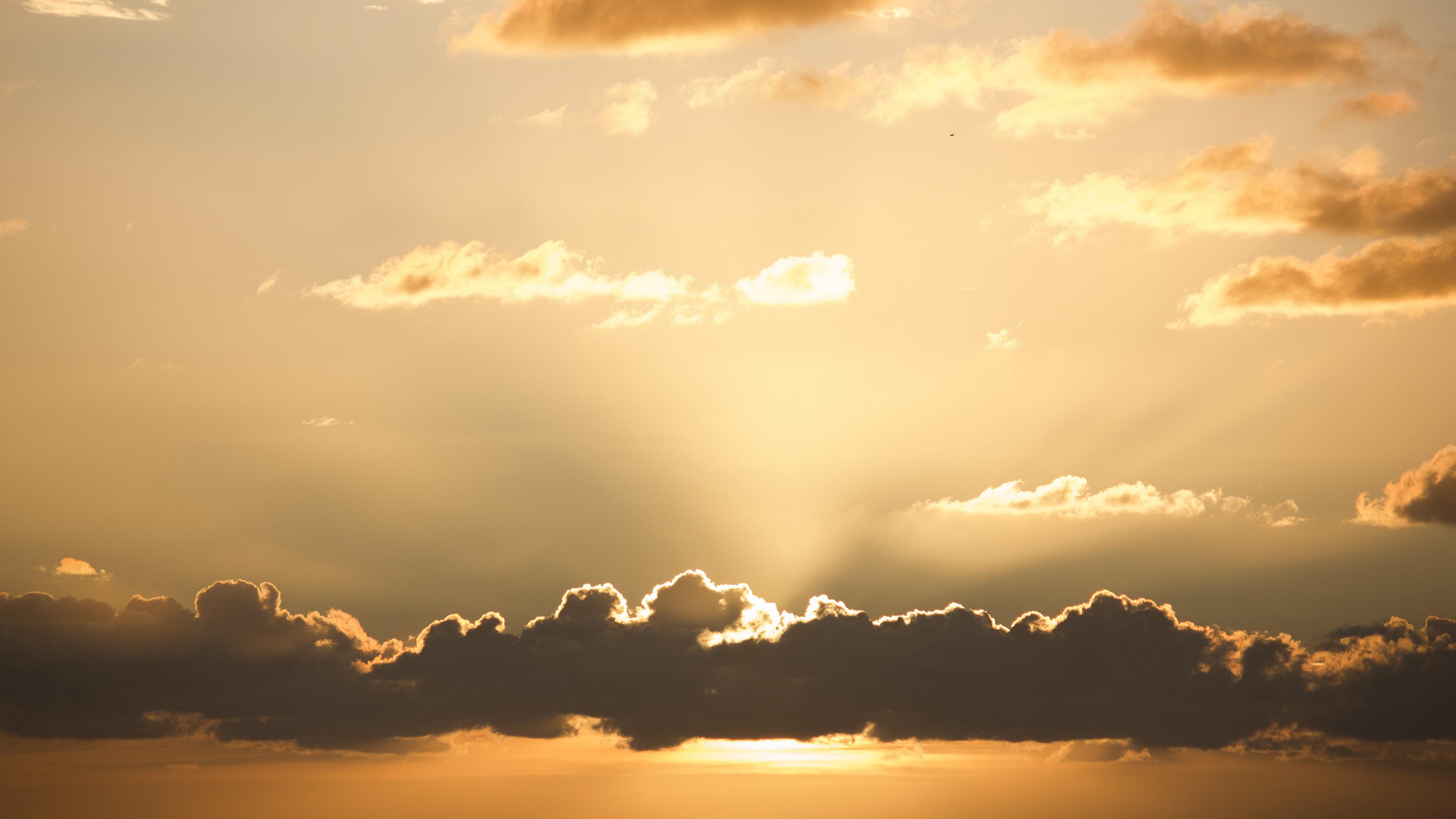 sunset sky clouds sun 4k 1541113990 - sunset, sky, clouds, sun 4k - sunset, Sky, Clouds