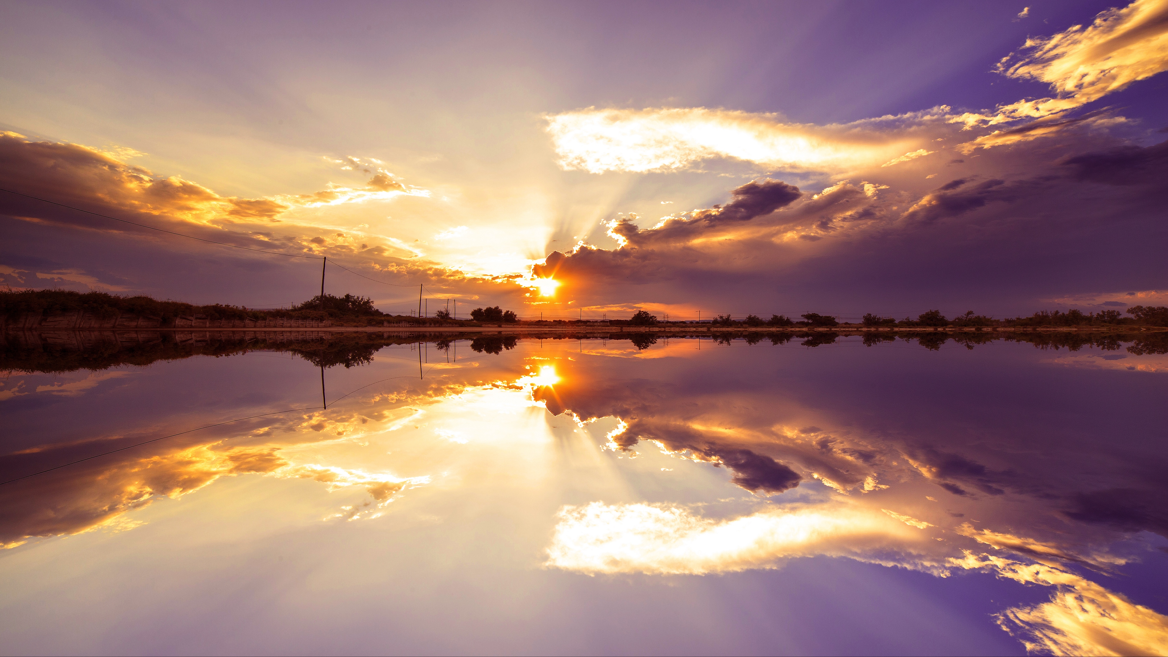 sunset skyline lake clouds saint lucia 4k 1541117326 - sunset, skyline, lake, clouds, saint lucia 4k - sunset, Skyline, Lake