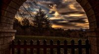 sunset trees fence arch 4k 1541114236 200x110 - sunset, trees, fence, arch 4k - Trees, sunset, fence