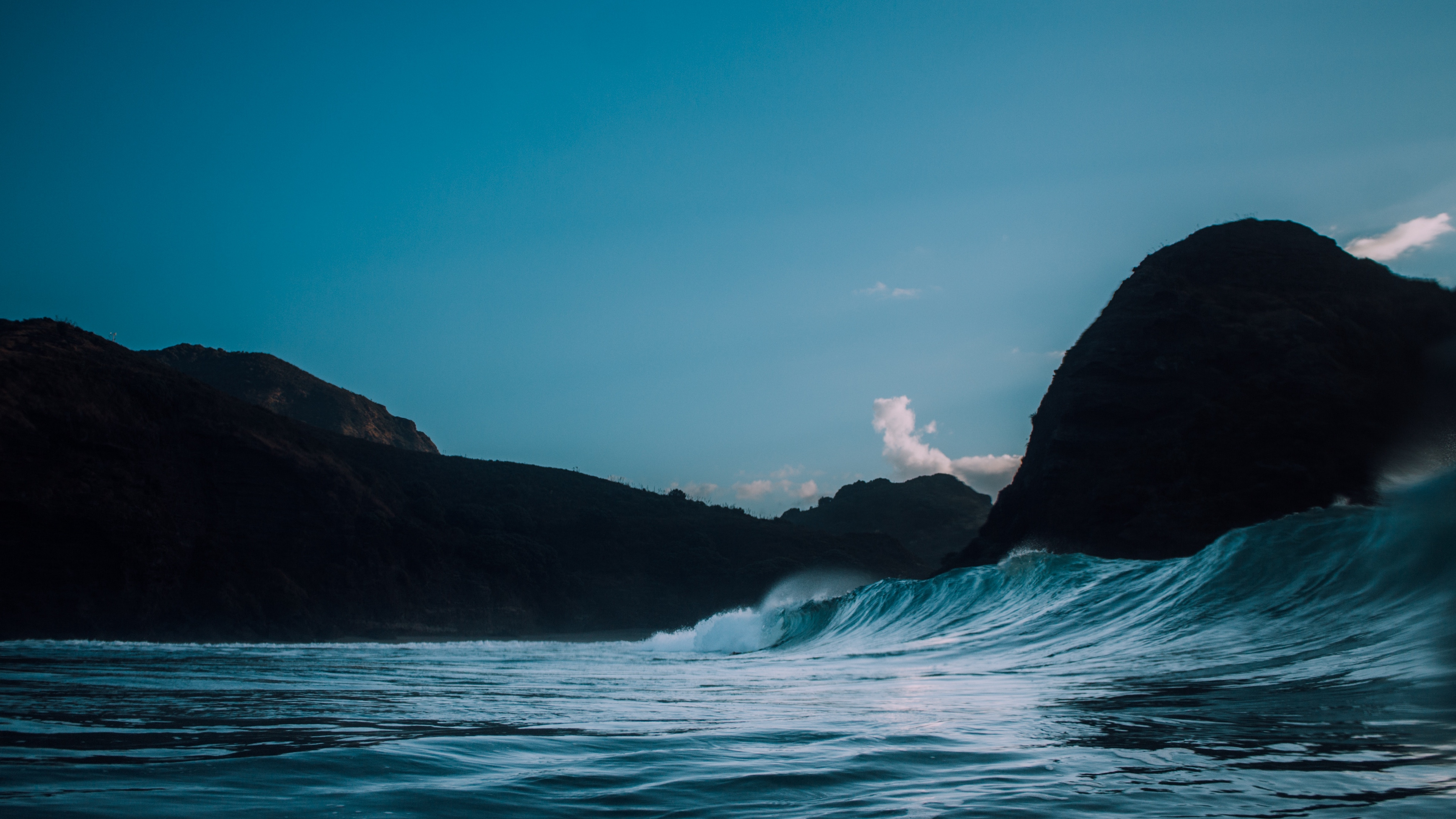 Wallpaper 4k Surf Sea Rock 4k Rock Sea Surf