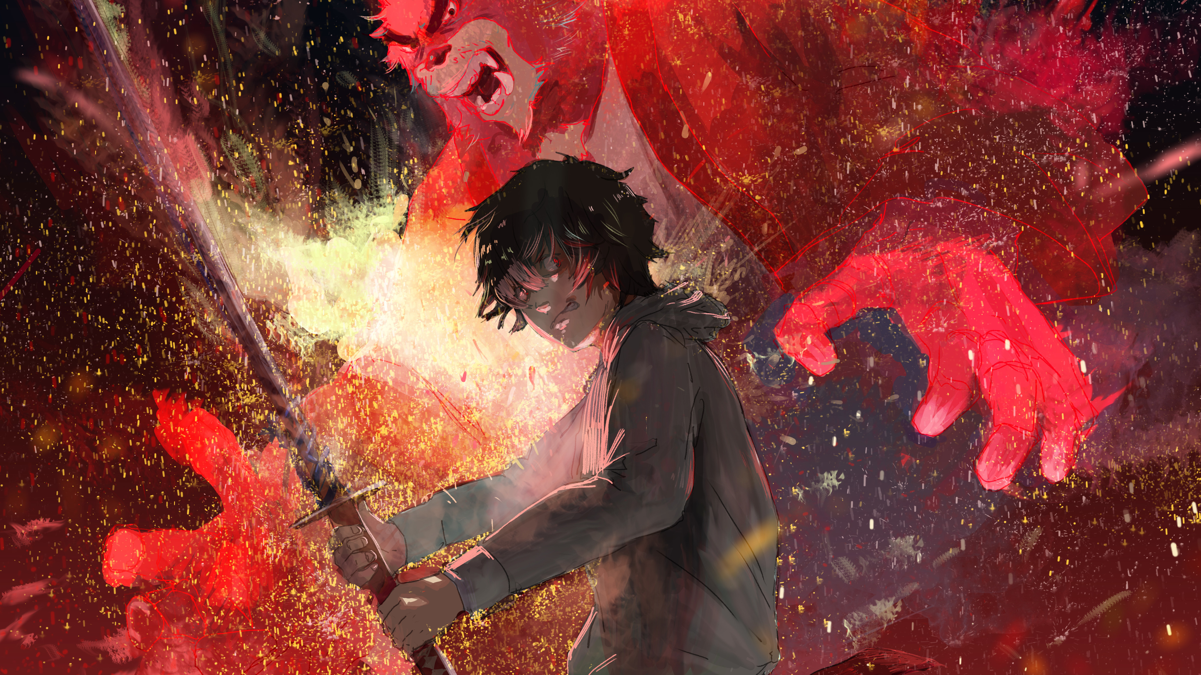 the boy and the beast anime artwork 5k 1541973715 - The Boy And The Beast Anime Artwork 5k - the boy and the beast wallpapers, hd-wallpapers, digital art wallpapers, artwork wallpapers, artist wallpapers, anime wallpapers, 5k wallpapers, 4k-wallpapers