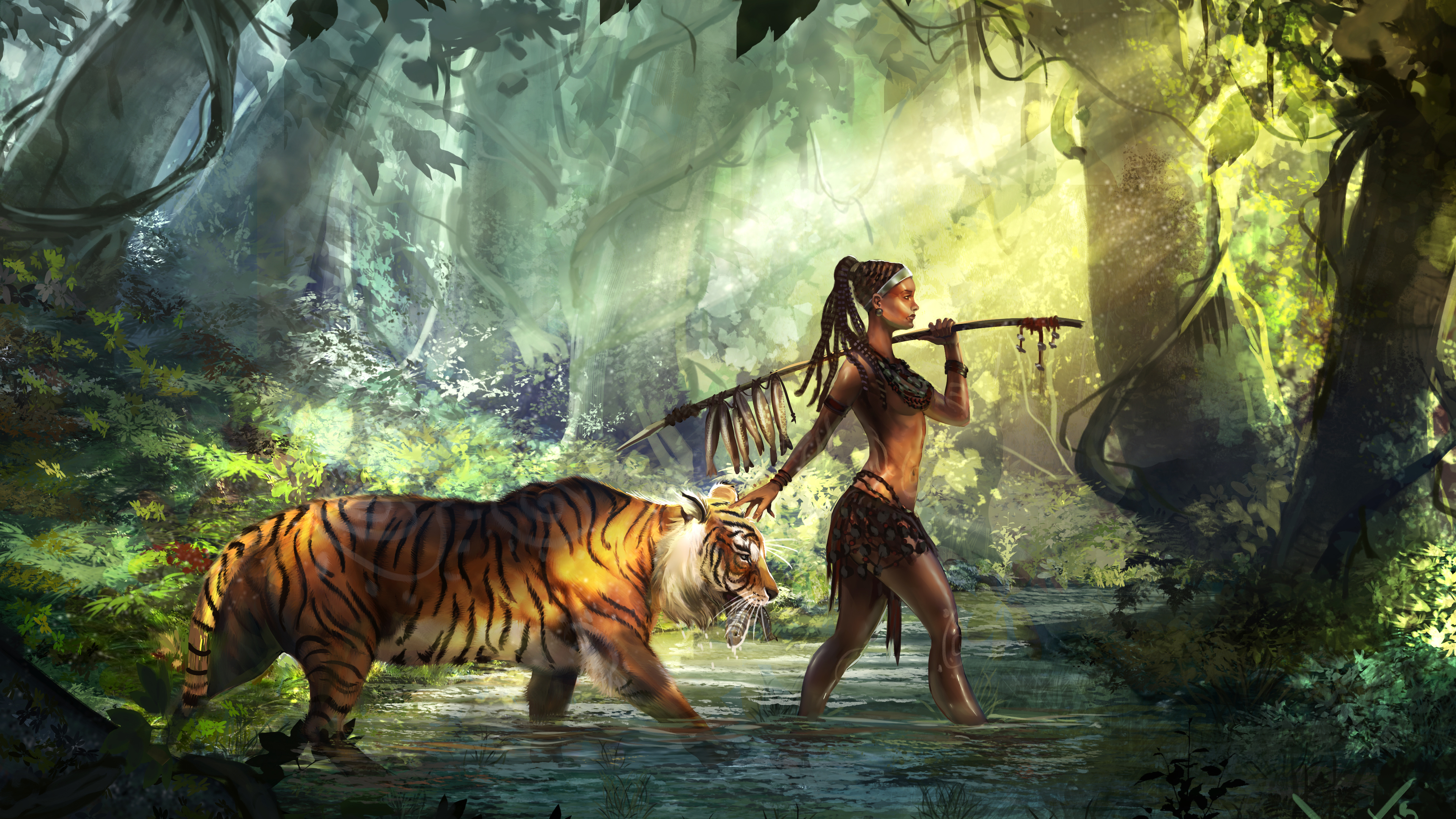 Wallpaper 4k Tiger Guardian 4k 4k Wallpapers Artist Wallpapers Artwork Wallpapers Deviantart Wallpapers Digital Art Wallpapers Hd Wallpapers Tiger Wallpapers