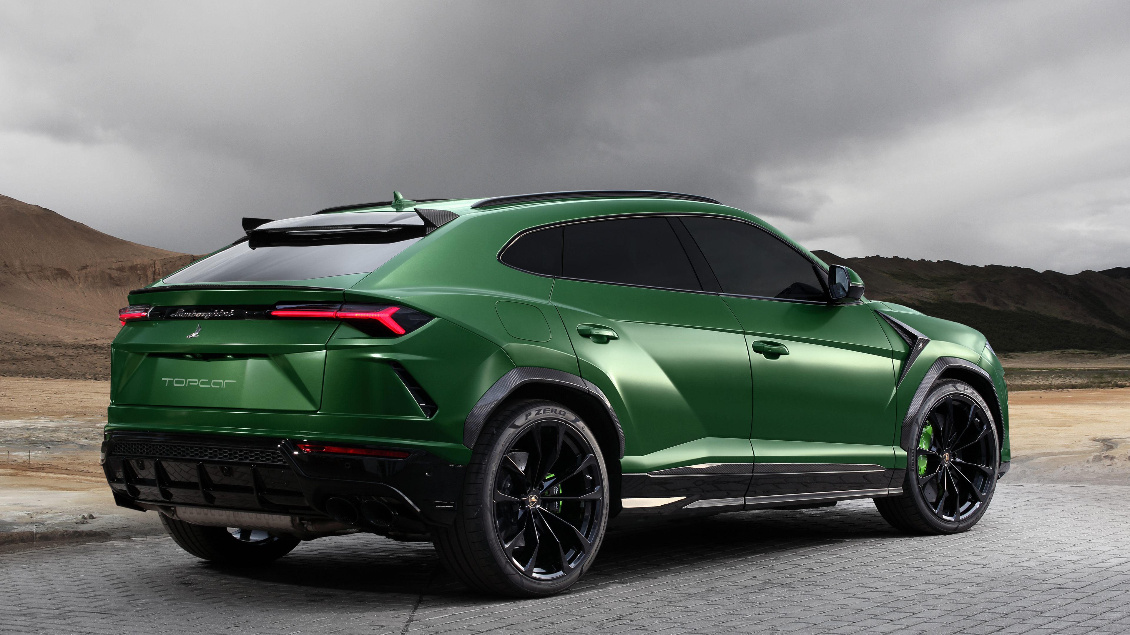 TopCar Lamborghini Urus 2018 Rear Suv Wallpapers