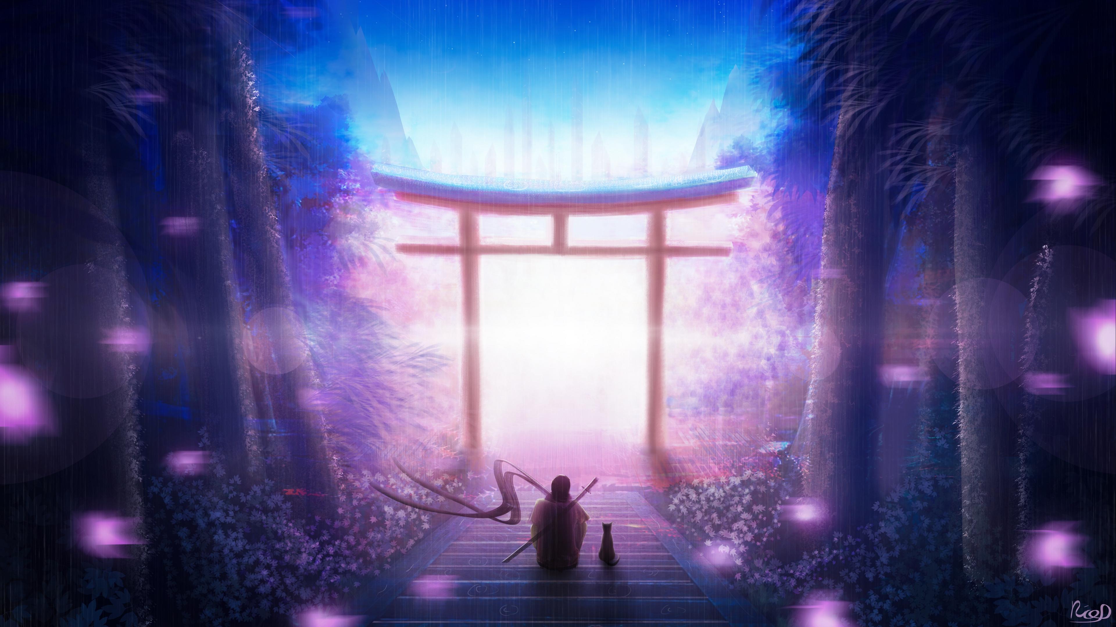 torii art solitude night warrior 4k 1541971541 - torii, art, solitude, night, warrior 4k - torii, solitude, art
