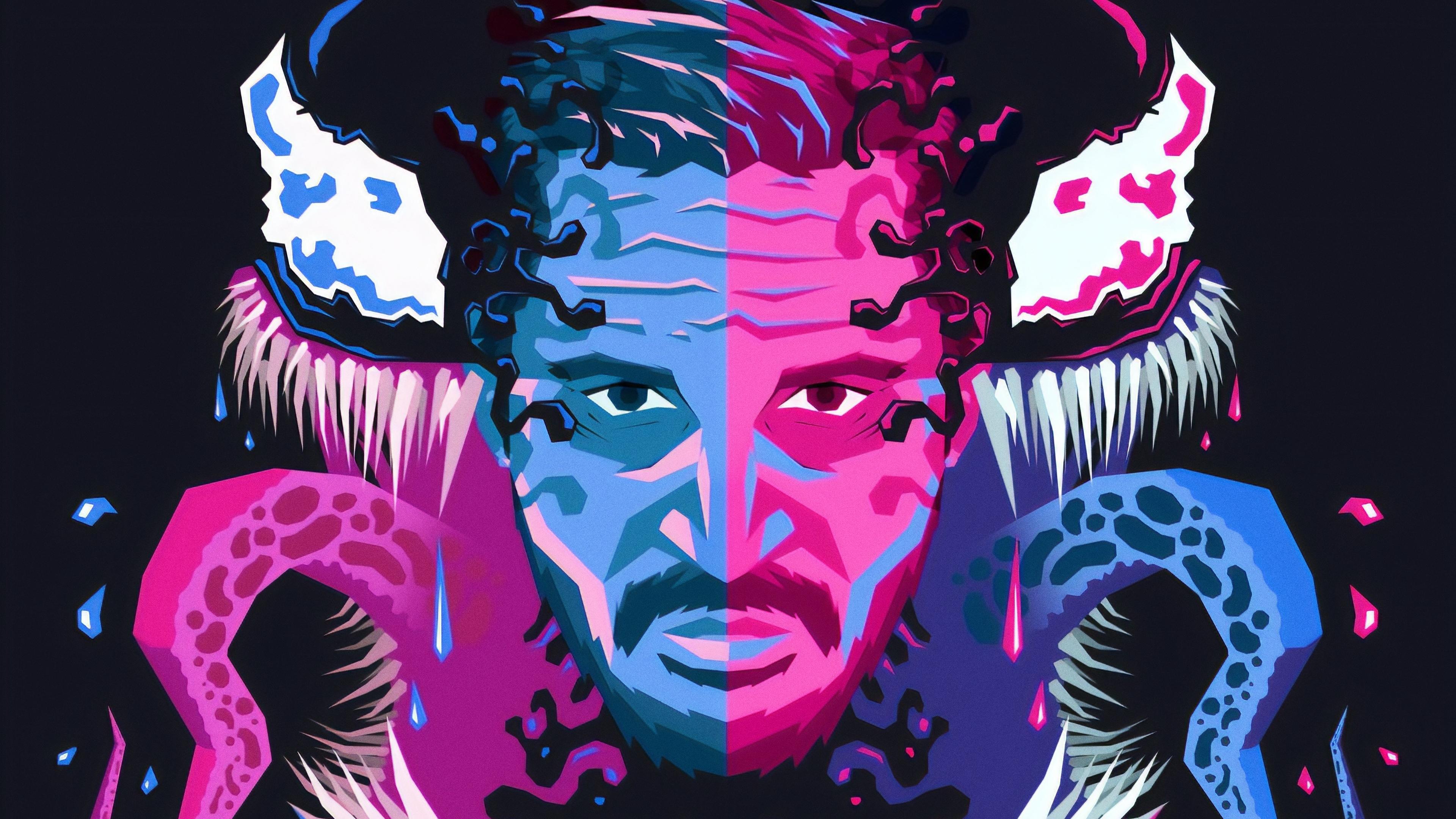 venom colorful art 1543620147 - Venom Colorful Art - Venom wallpapers, supervillain wallpapers, superheroes wallpapers, hd-wallpapers, digital art wallpapers, artwork wallpapers, 4k-wallpapers