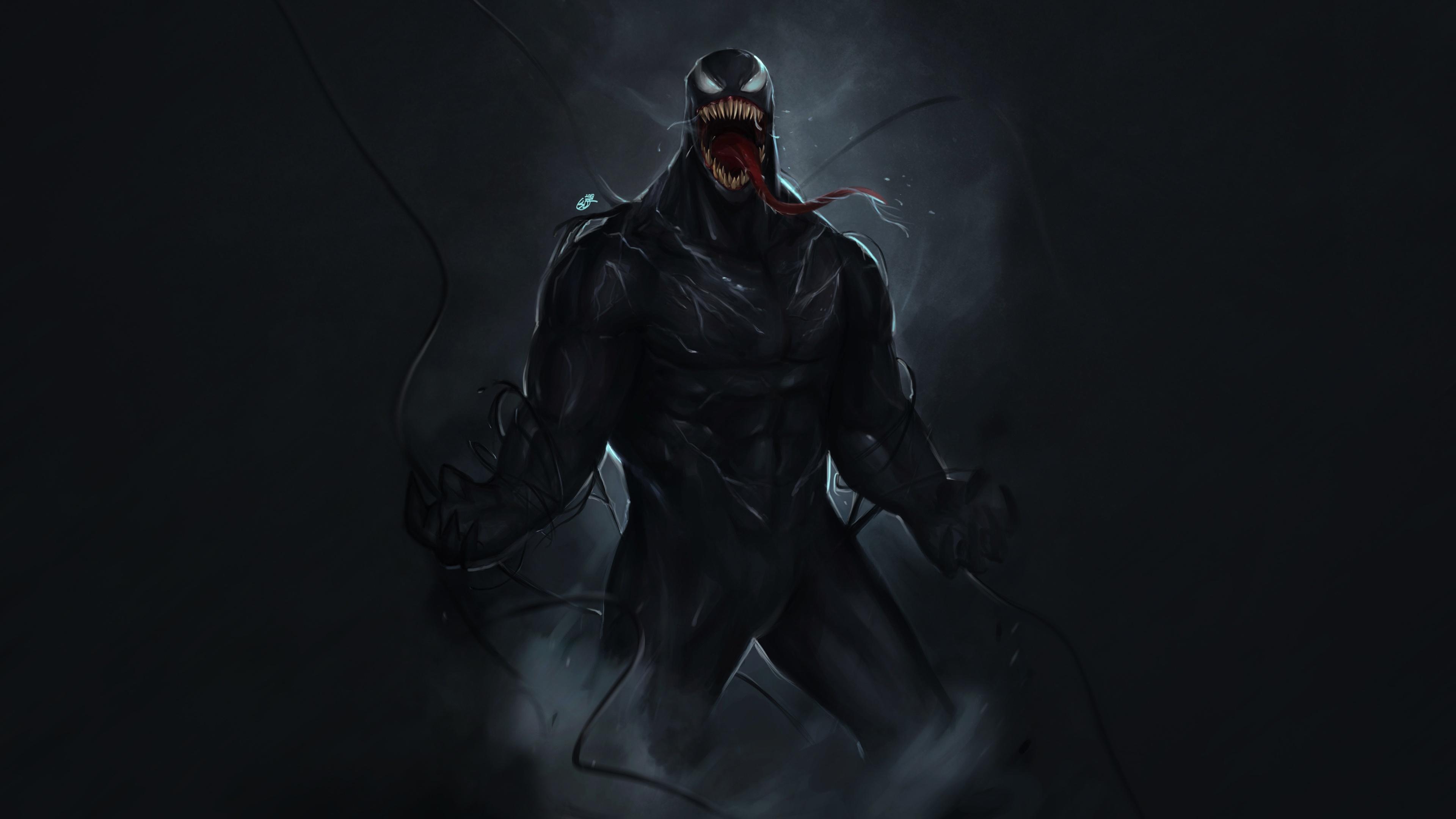 2048x2048 Venom 2018 Movie 4k Ipad Air Hd 4k Wallpapers: Venom Marvel Comic Superhero 4k Venom Wallpapers