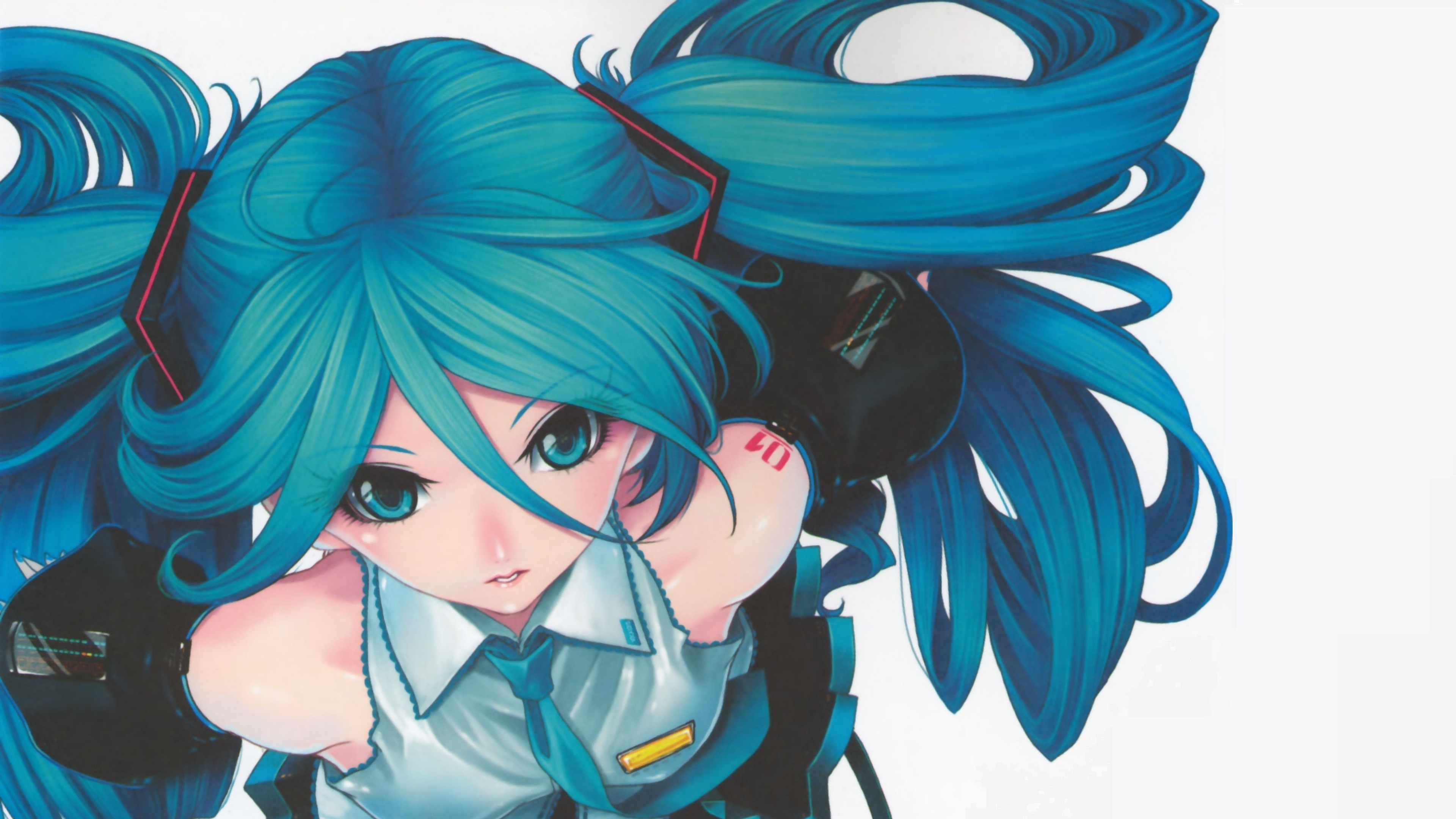 vocaloid miku hatsune girl hair 4k 1541975759 - vocaloid, miku hatsune, girl, hair 4k - Vocaloid, miku hatsune, Girl