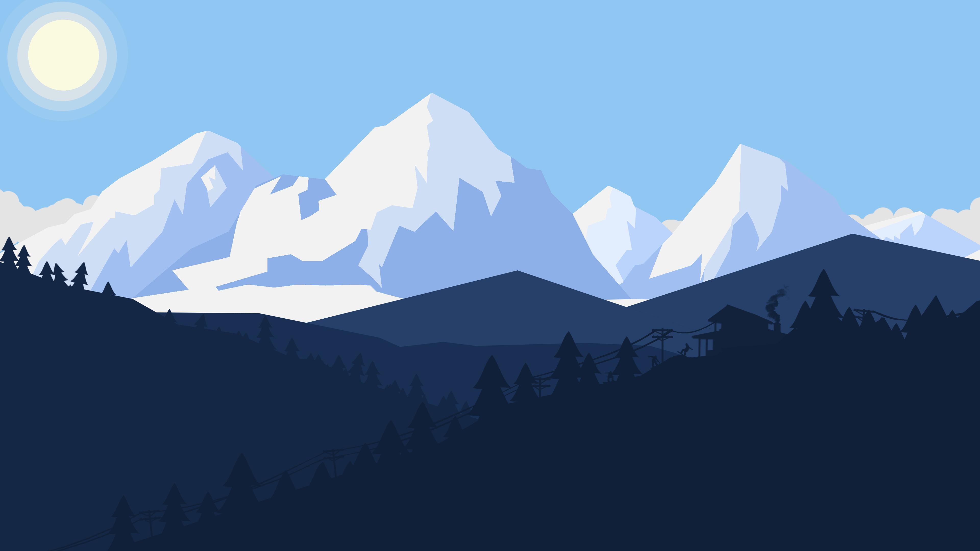 winter snow landscape minimalist 4k 1541970316 - Winter Snow Landscape Minimalist 4k - winter wallpapers, snow wallpapers, minimalist wallpapers, minimalism wallpapers, landscape wallpapers, hd-wallpapers, digital art wallpapers, deviantart wallpapers, artwork wallpapers, artist wallpapers, 4k-wallpapers