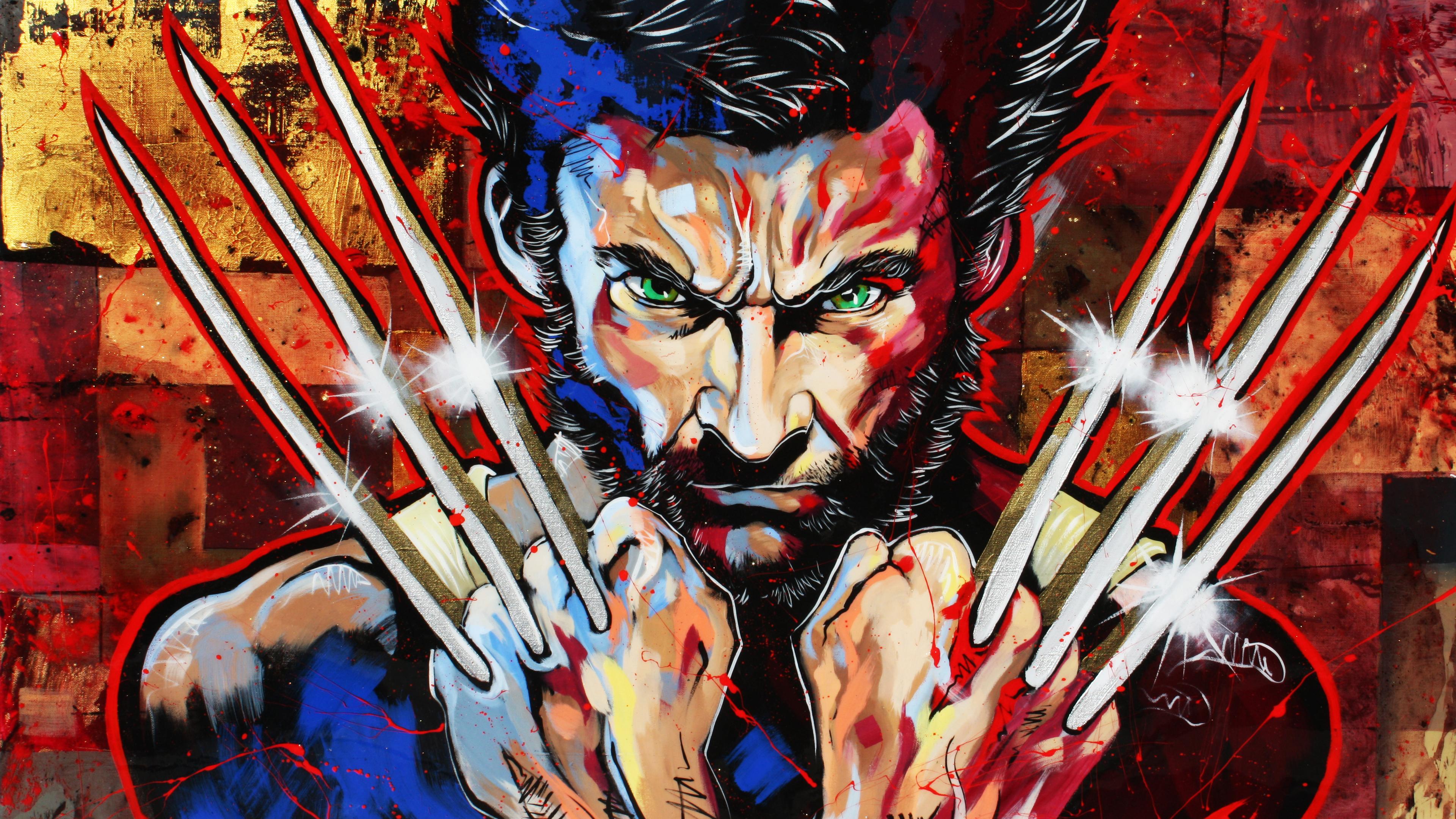 wolverine 8k oy 3840x2160 - Wolverine 4k New Artwork - wolverine wallpapers 4k, wolverine bacground 4k, wolverine art 4k