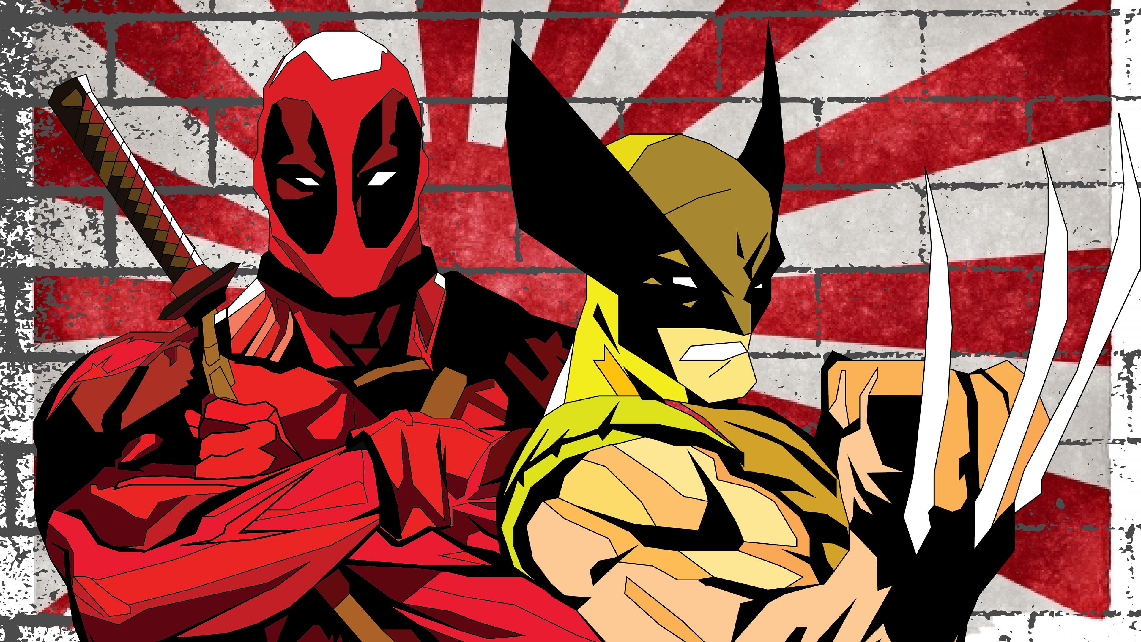 wolverine and deadpool vacation in japan 1543620139 - Wolverine And Deadpool Vacation In Japan - wolverine wallpapers, superheroes wallpapers, hd-wallpapers, deadpool wallpapers, behance wallpapers, artwork wallpapers, 4k-wallpapers