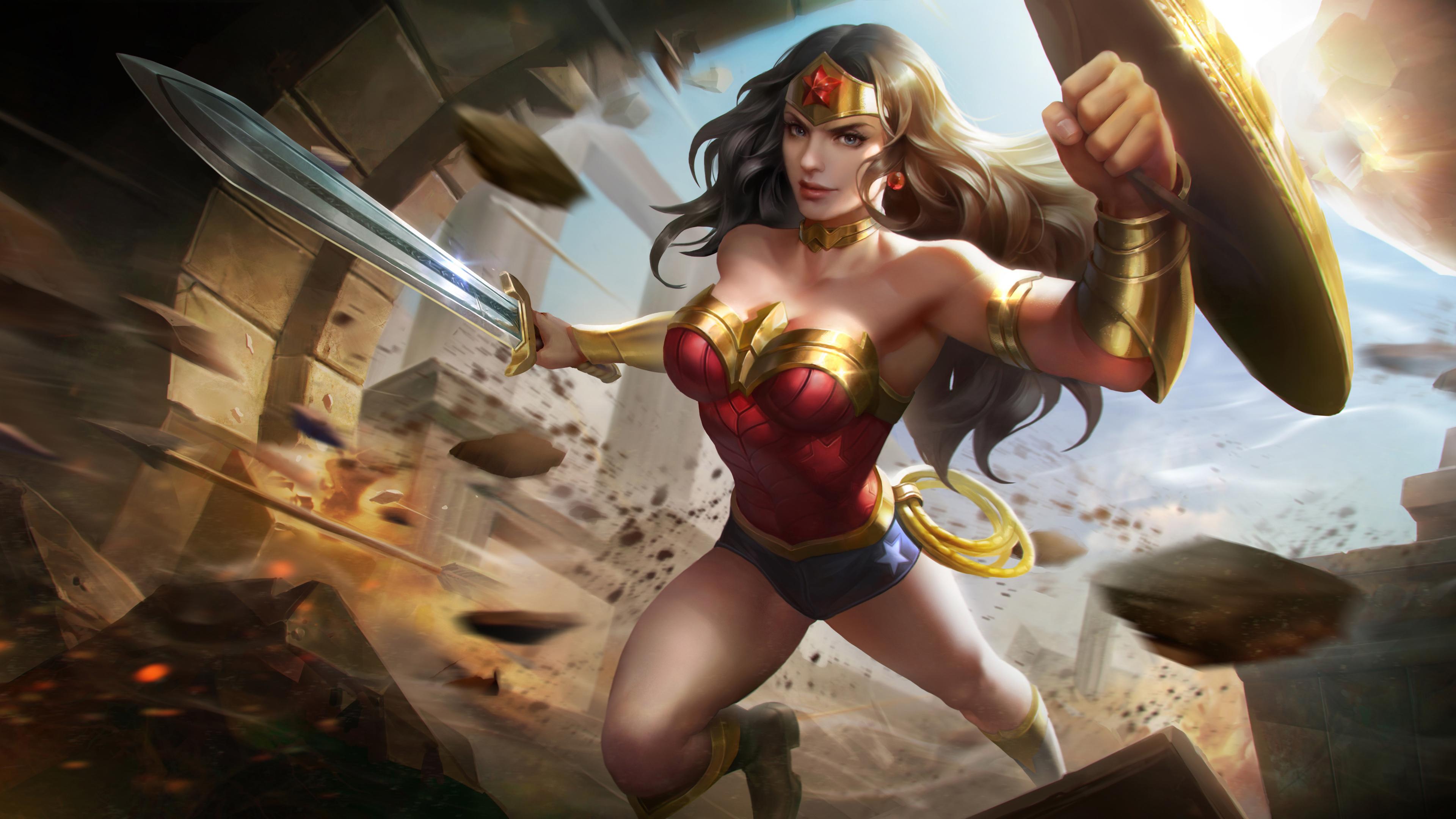 Wallpaper 4k Wonder Woman 4k Artworks 4k Wallpapers Artwork