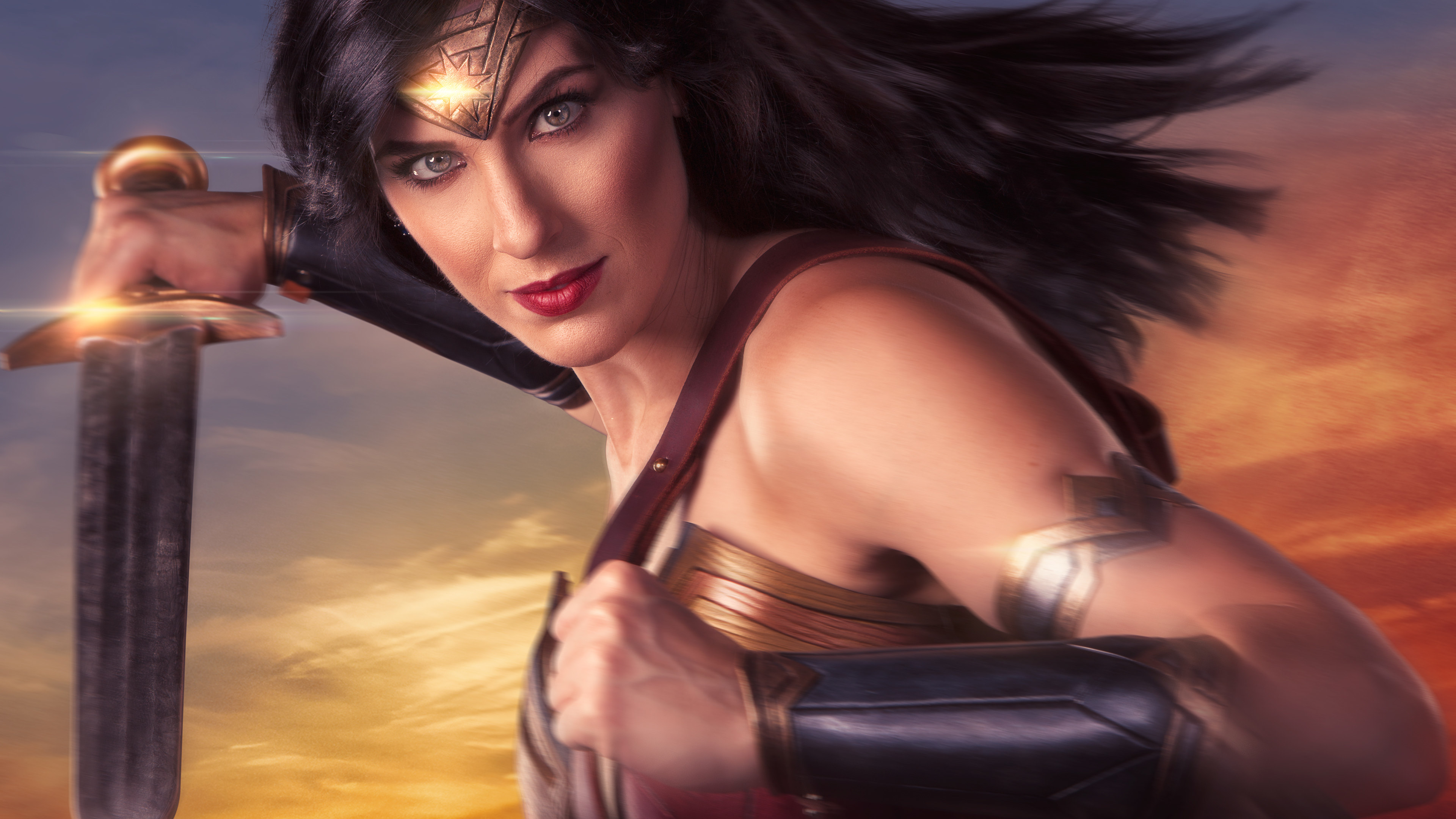 Wallpaper 4k Wonder Woman Cosplay 4k 4k Wallpapers Artist