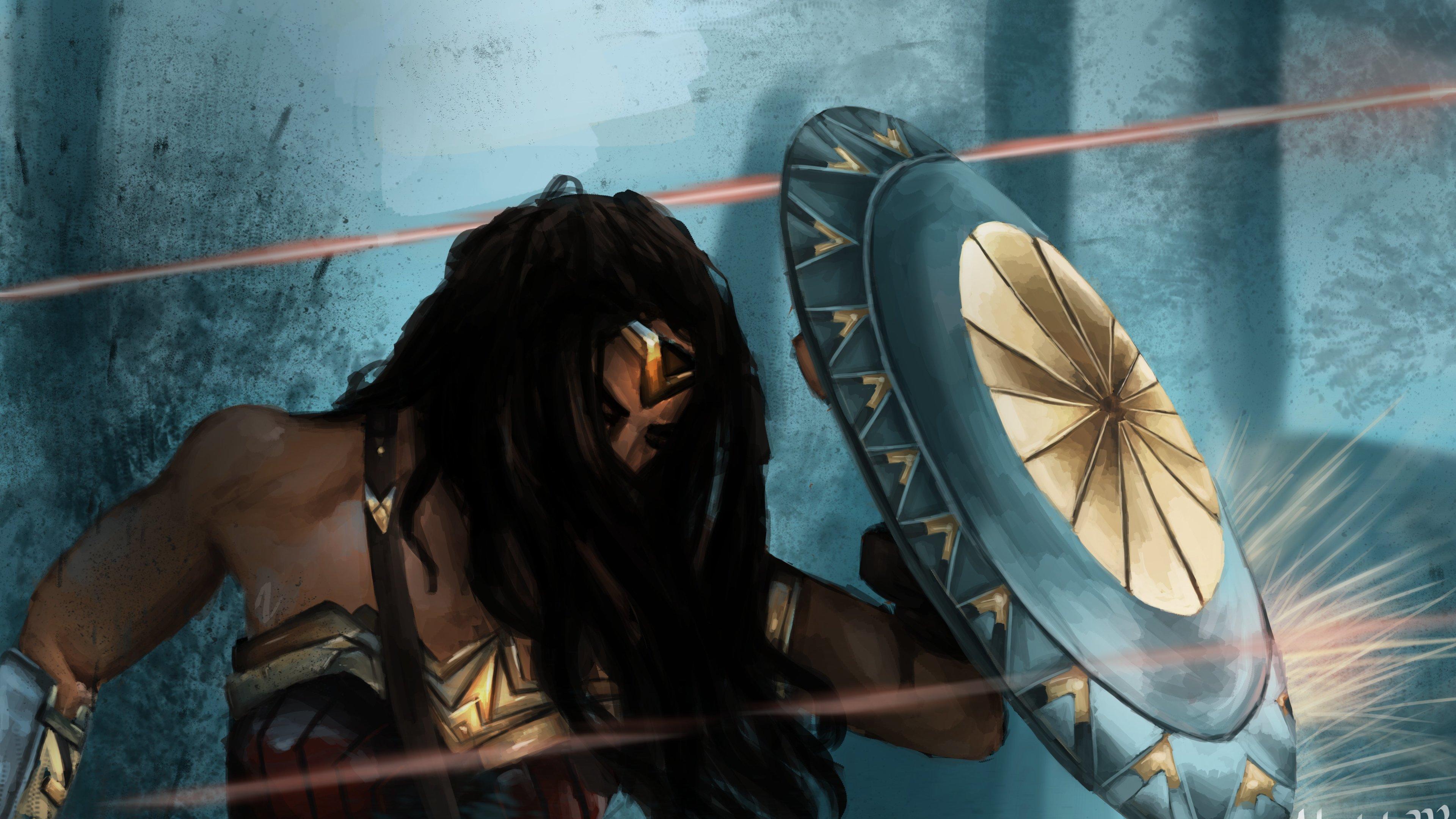wonder woman defend herself with shield 1541294390 - Wonder Woman Defend Herself With Shield - wonder woman wallpapers, superheroes wallpapers, shield wallpapers, hd-wallpapers, digital art wallpapers, artwork wallpapers, 5k wallpapers, 4k-wallpapers