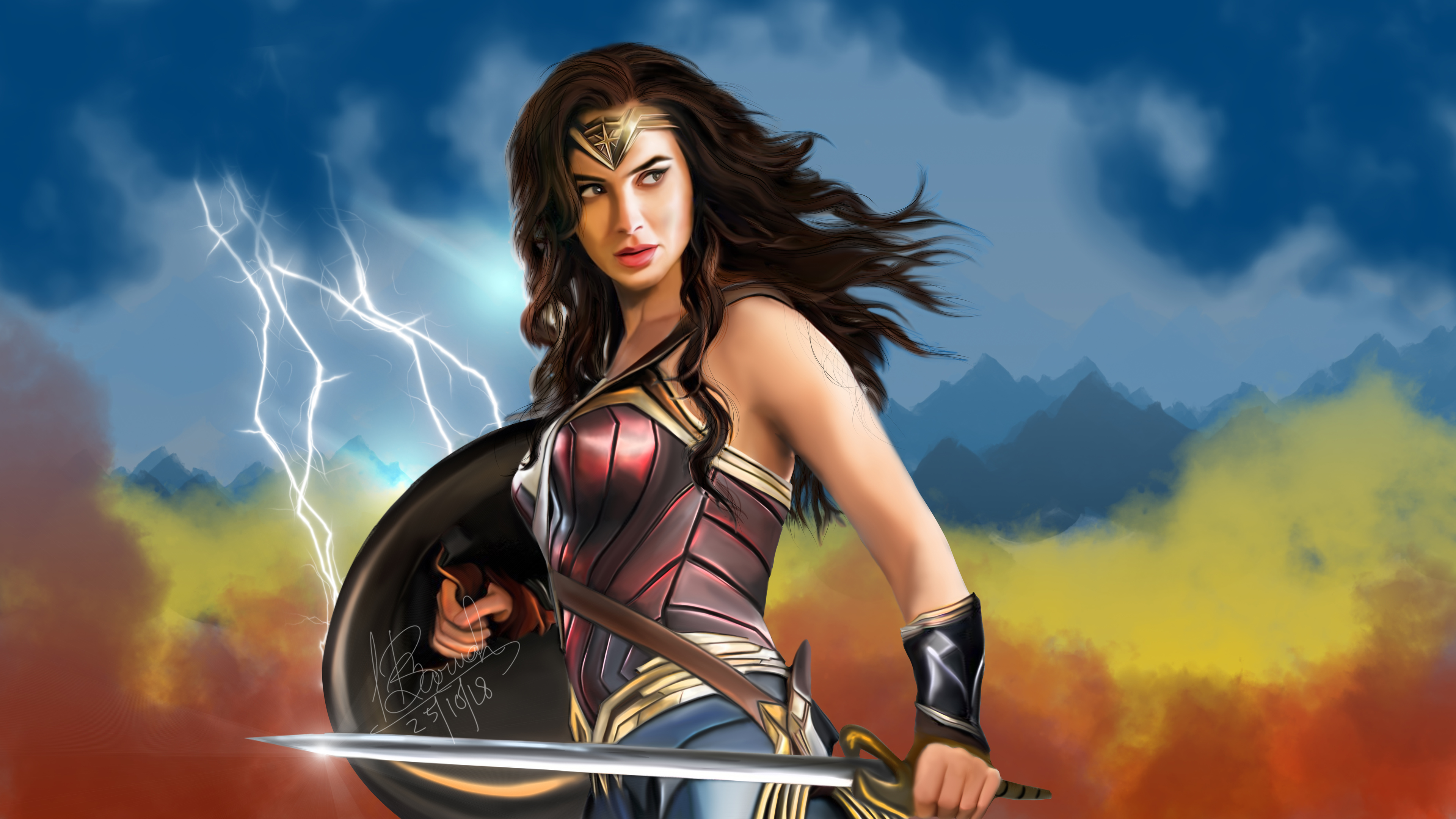 wonder woman fan art 4k 1543618776 - Wonder Woman Fan Art 4k - wonder woman wallpapers, superheroes wallpapers, hd-wallpapers, digital art wallpapers, deviantart wallpapers, artwork wallpapers, artist wallpapers, 4k-wallpapers