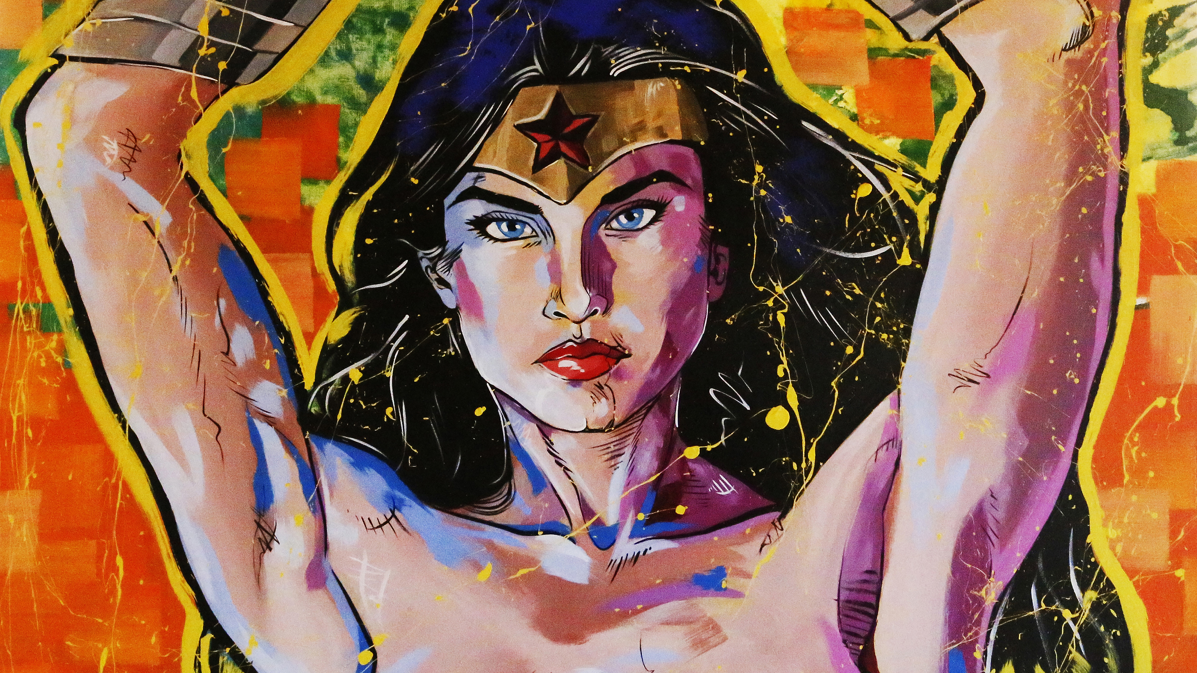 wonder woman painting art 4k 1543619987 - Wonder Woman Painting Art 4k - wonder woman wallpapers, superheroes wallpapers, painting wallpapers, hd-wallpapers, digital art wallpapers, artwork wallpapers, artist wallpapers, 4k-wallpapers