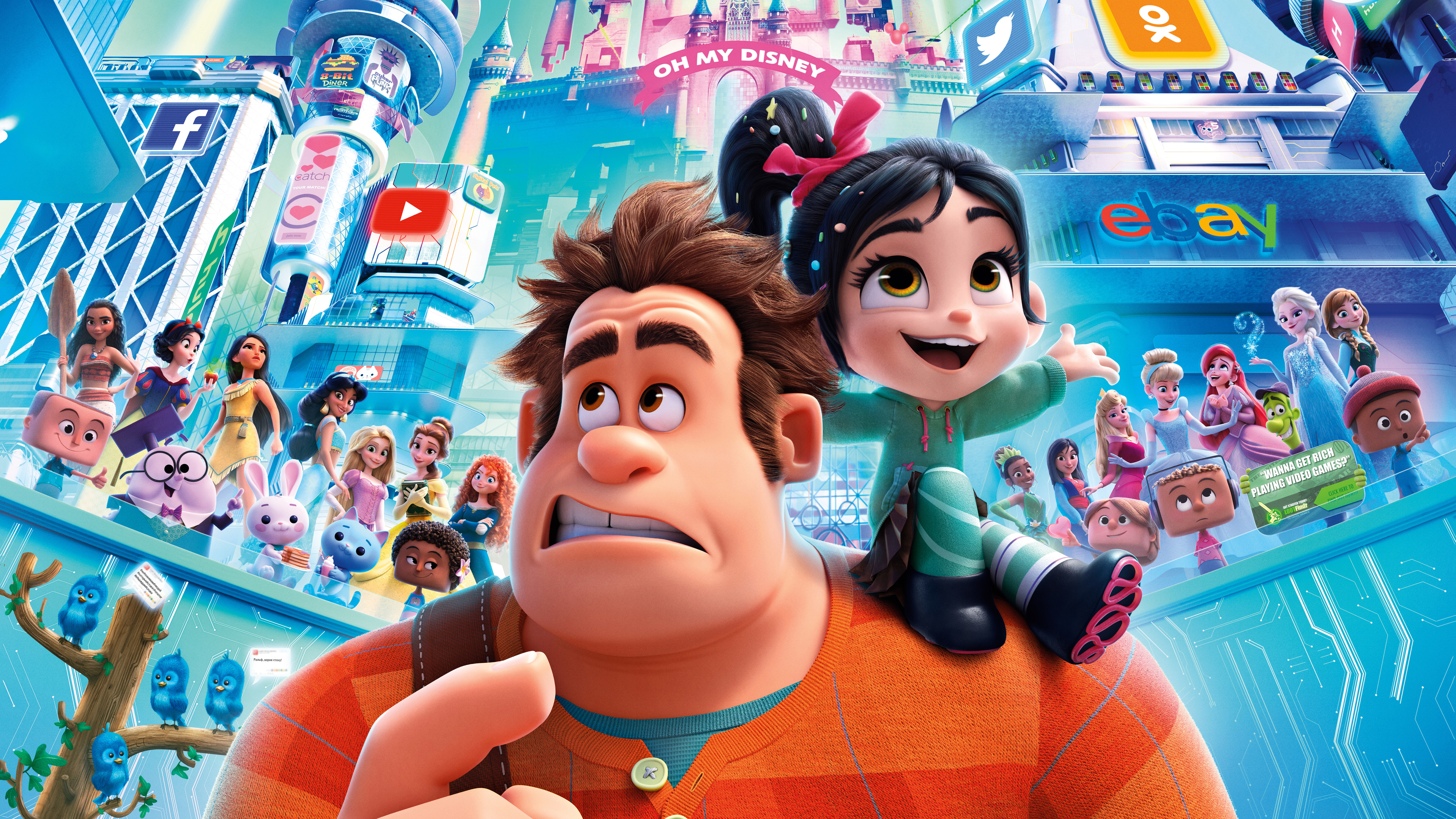 wreck it ralph 2 2018 official poster 4k 1543105187 - Wreck It Ralph 2 2018 Official Poster 4k - wreck it ralph 2 wallpapers, movies wallpapers, animated movies wallpapers, 8k wallpapers, 5k wallpapers, 4k-wallpapers, 2018-movies-wallpapers