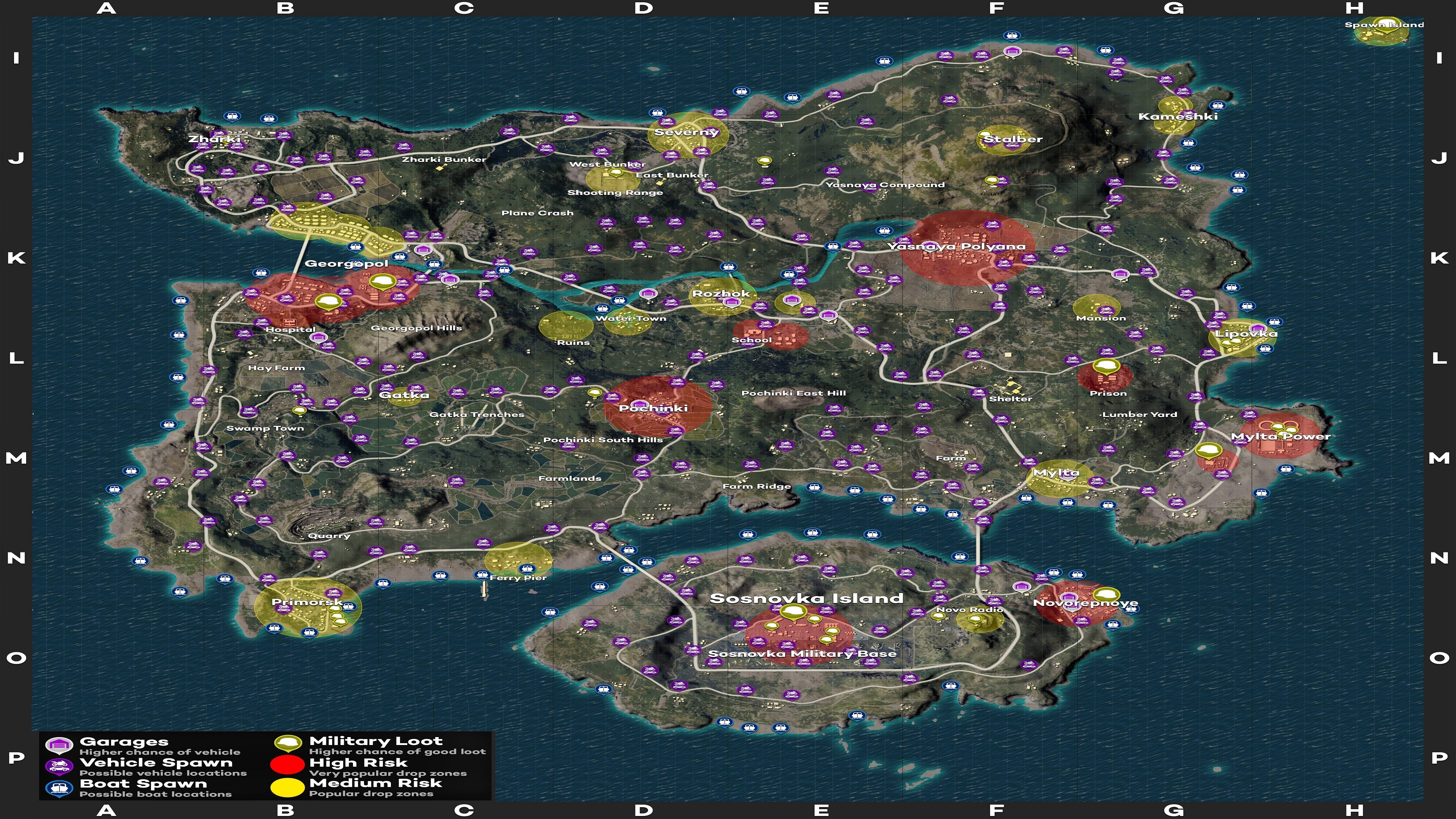1map 1 - Pubg Loot and Car Spawn In Erangel 4K - pubg maps loot spawn 4k 2019, pubg loot spawn maps hd 4k, PUBG loot maps erangel 4k hd, Pubg Loot and Car Spawn In Erangel 4K