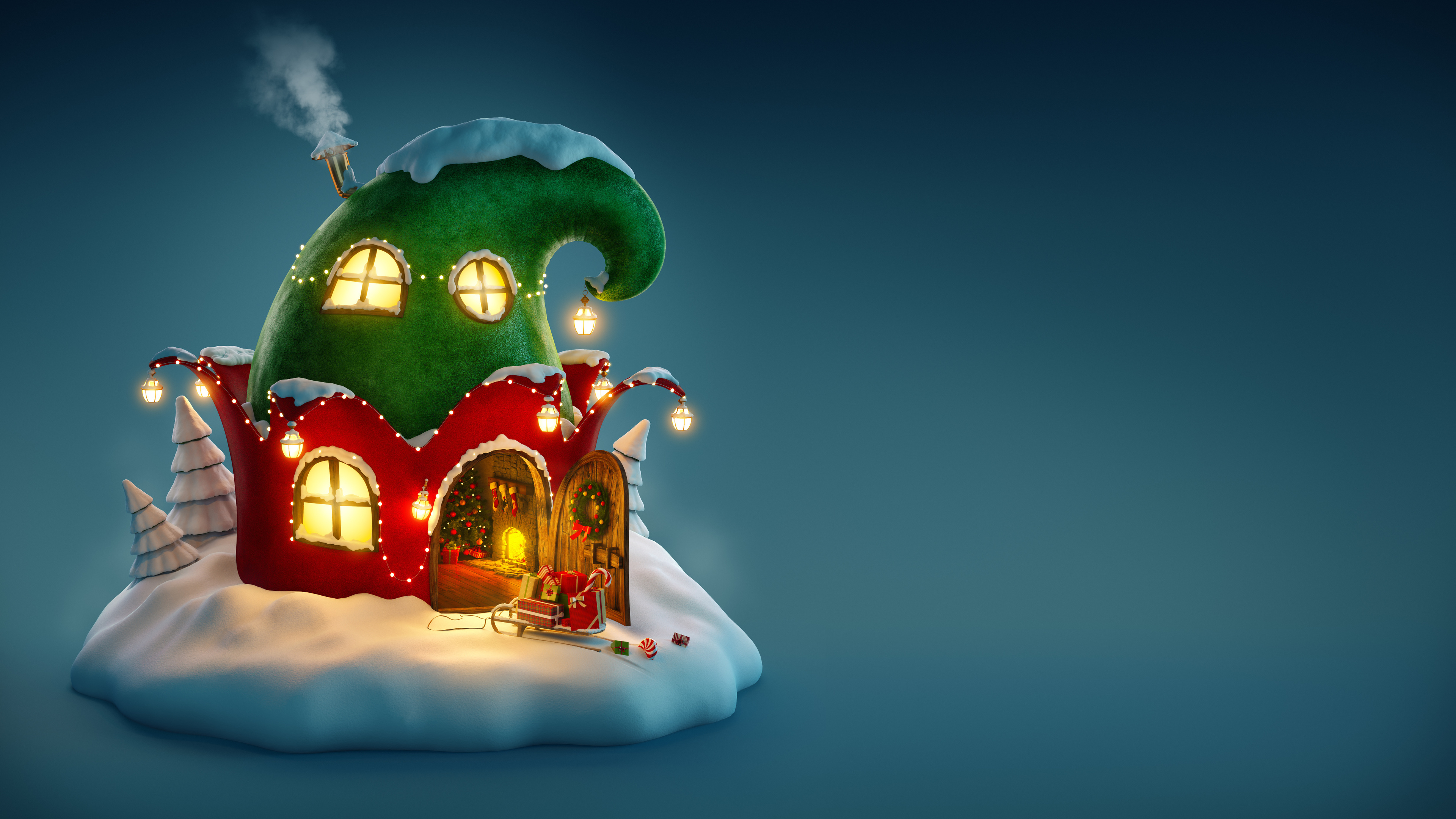 4k christmas fairy house 1543946350 - 4k Christmas Fairy House - holidays wallpapers, christmas wallpapers, celebrations wallpapers, 4k-wallpapers