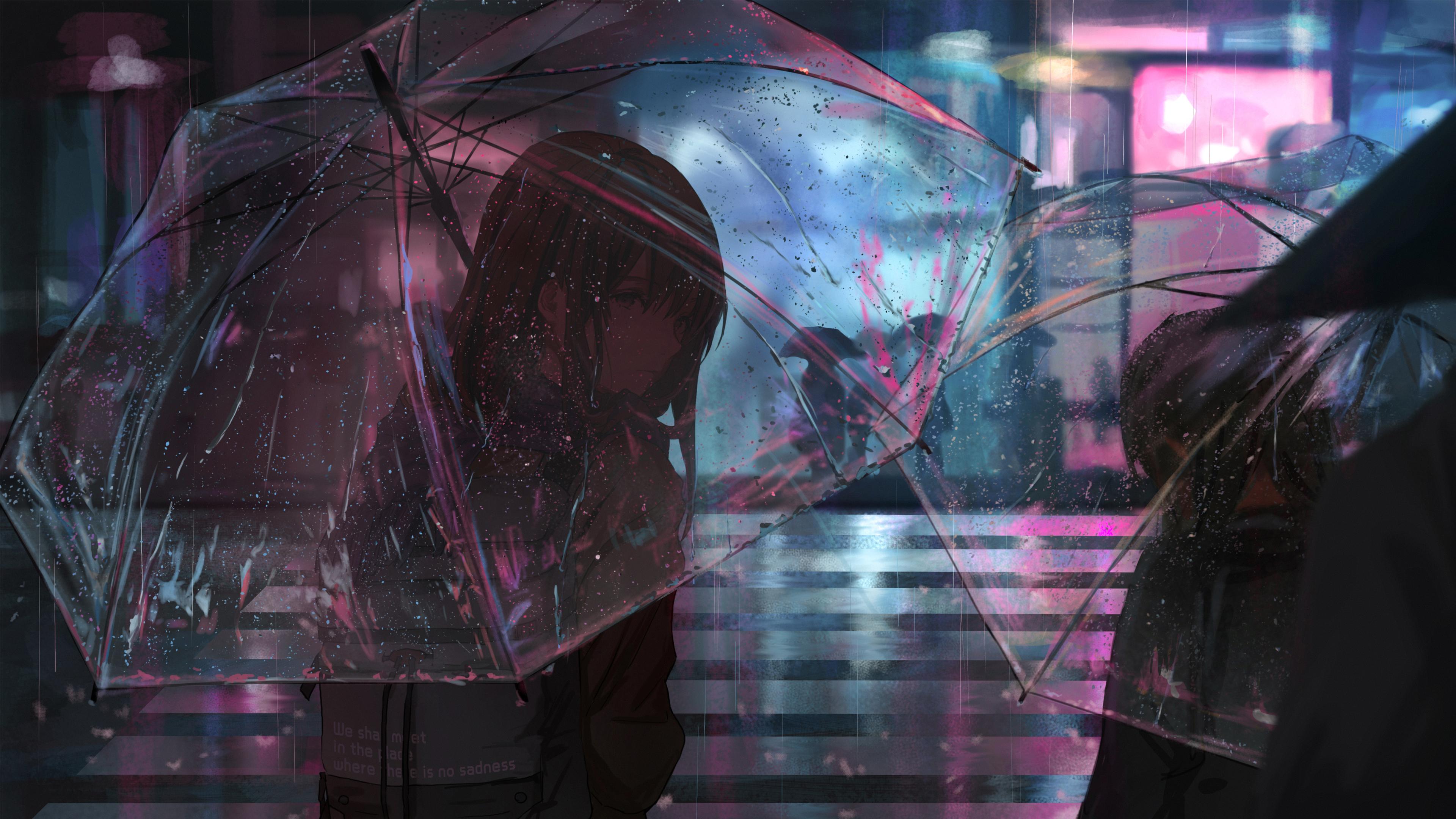 anime girl in rain with umbrella 4k 1546277648 - Anime Girl In Rain With Umbrella 4k - umbrella wallpapers, rain wallpapers, hd-wallpapers, digital art wallpapers, artwork wallpapers, artist wallpapers, anime wallpapers, anime girl wallpapers, 4k-wallpapers