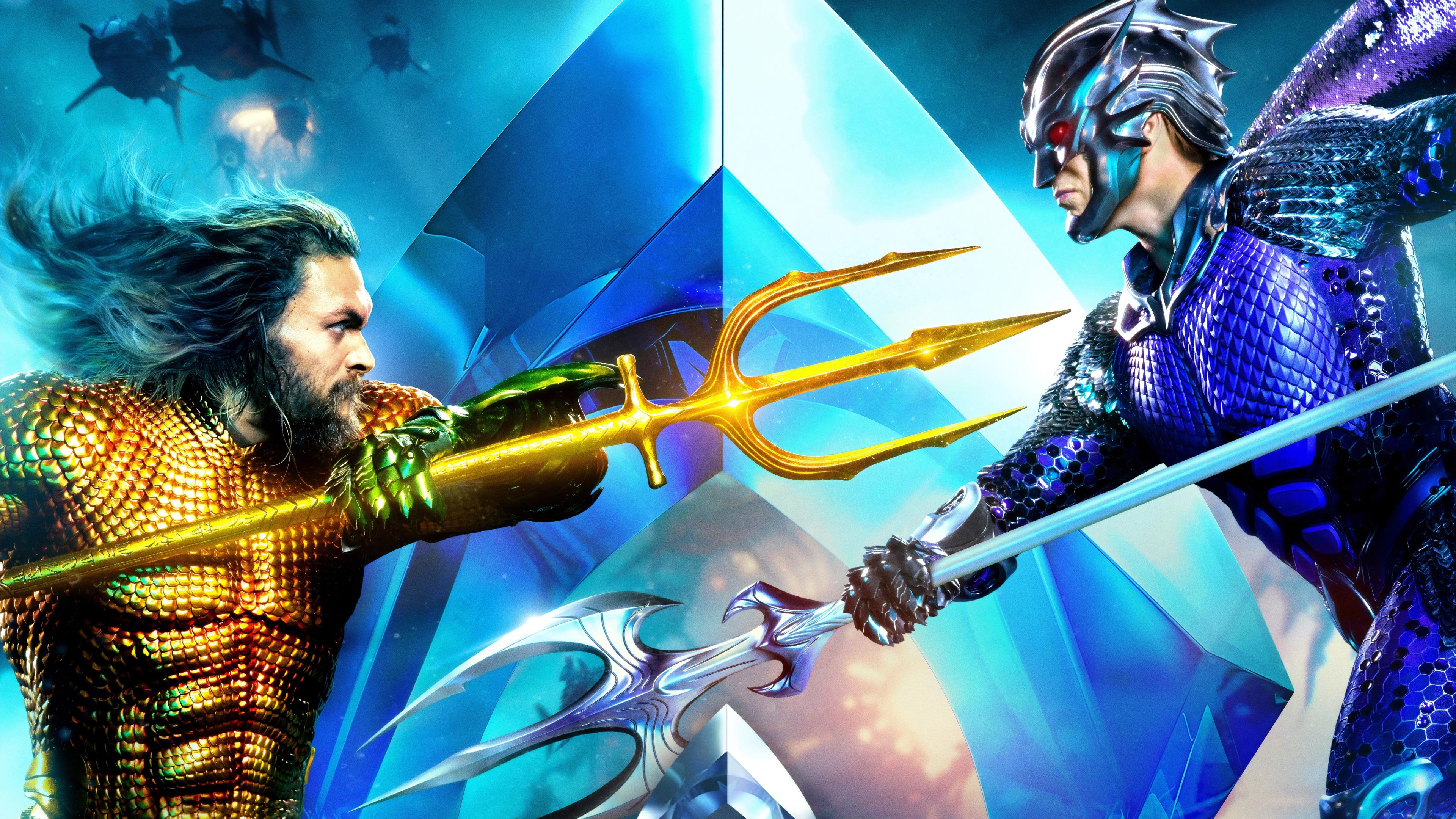Aquaman 2018 Movie 4k Wallpapers: Aquaman And Ocean Master International Poster 4k Poster