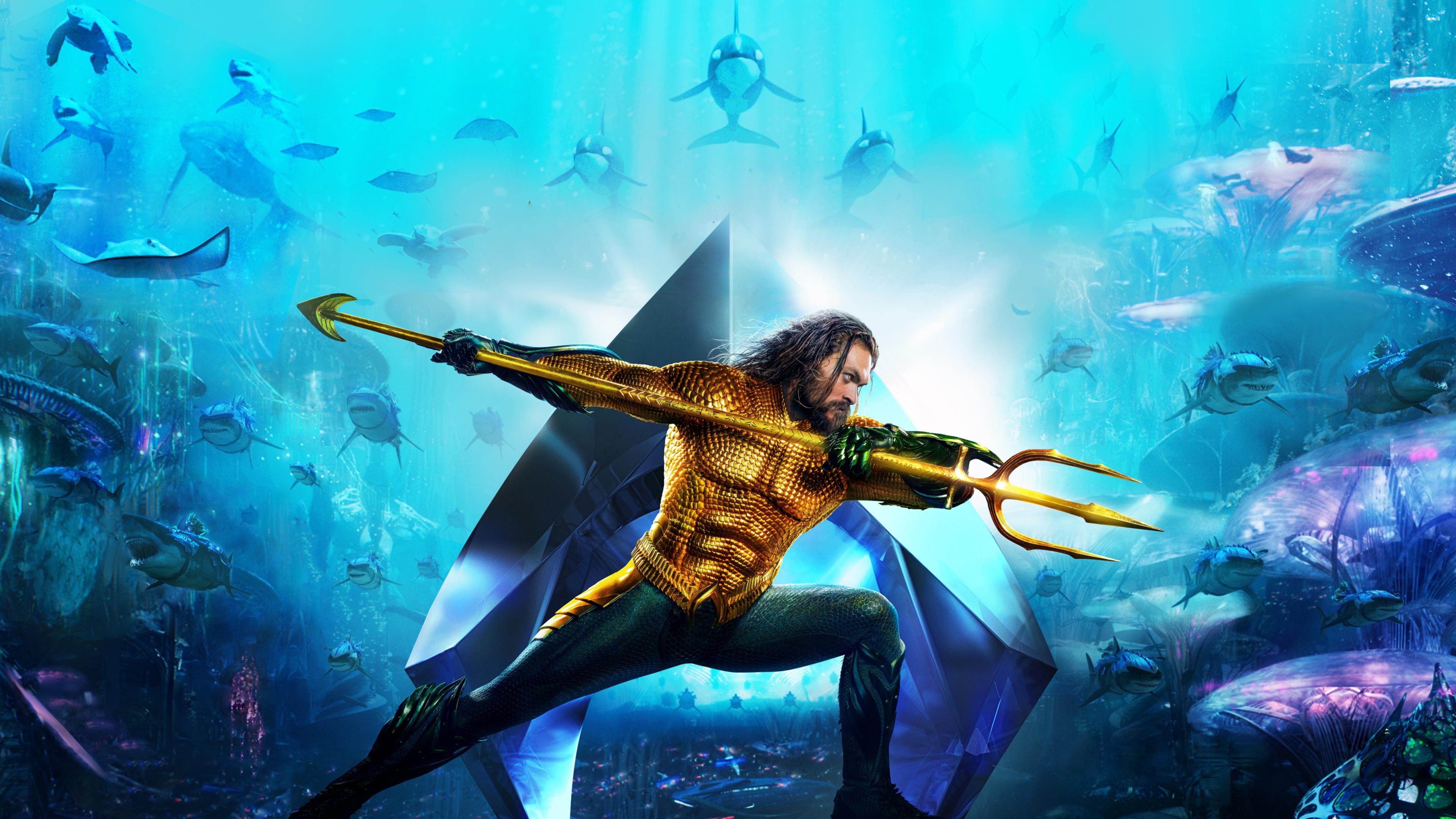 aquaman movie new poster 2018 mv 3840x2160 - Aquaman Poster 2018 4k new - Aquaman wallpapers hd 4k download, Aquaman new poster 4k, Aquaman movie wallpapers hd 4k, Aquaman 1080 p wallpapers hd 4k