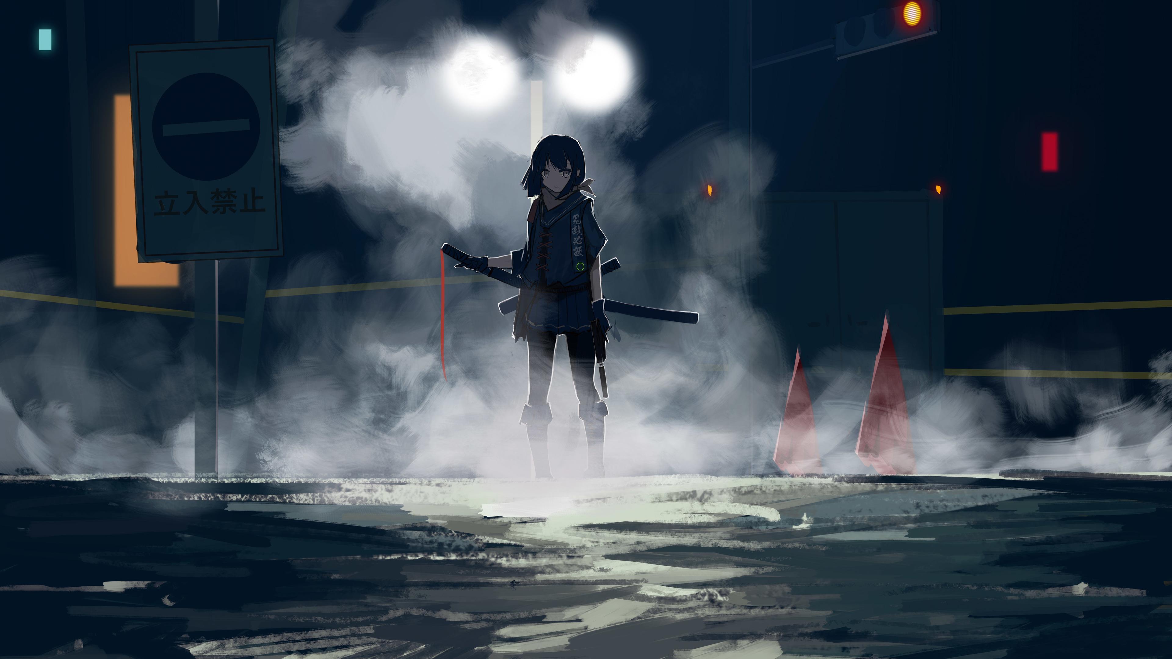 assassin anime girl with sword 4k 1546277571 - Assassin Anime Girl With Sword 4k - sword wallpapers, hd-wallpapers, digital art wallpapers, artwork wallpapers, artist wallpapers, anime wallpapers, anime girl wallpapers, 5k wallpapers, 4k-wallpapers