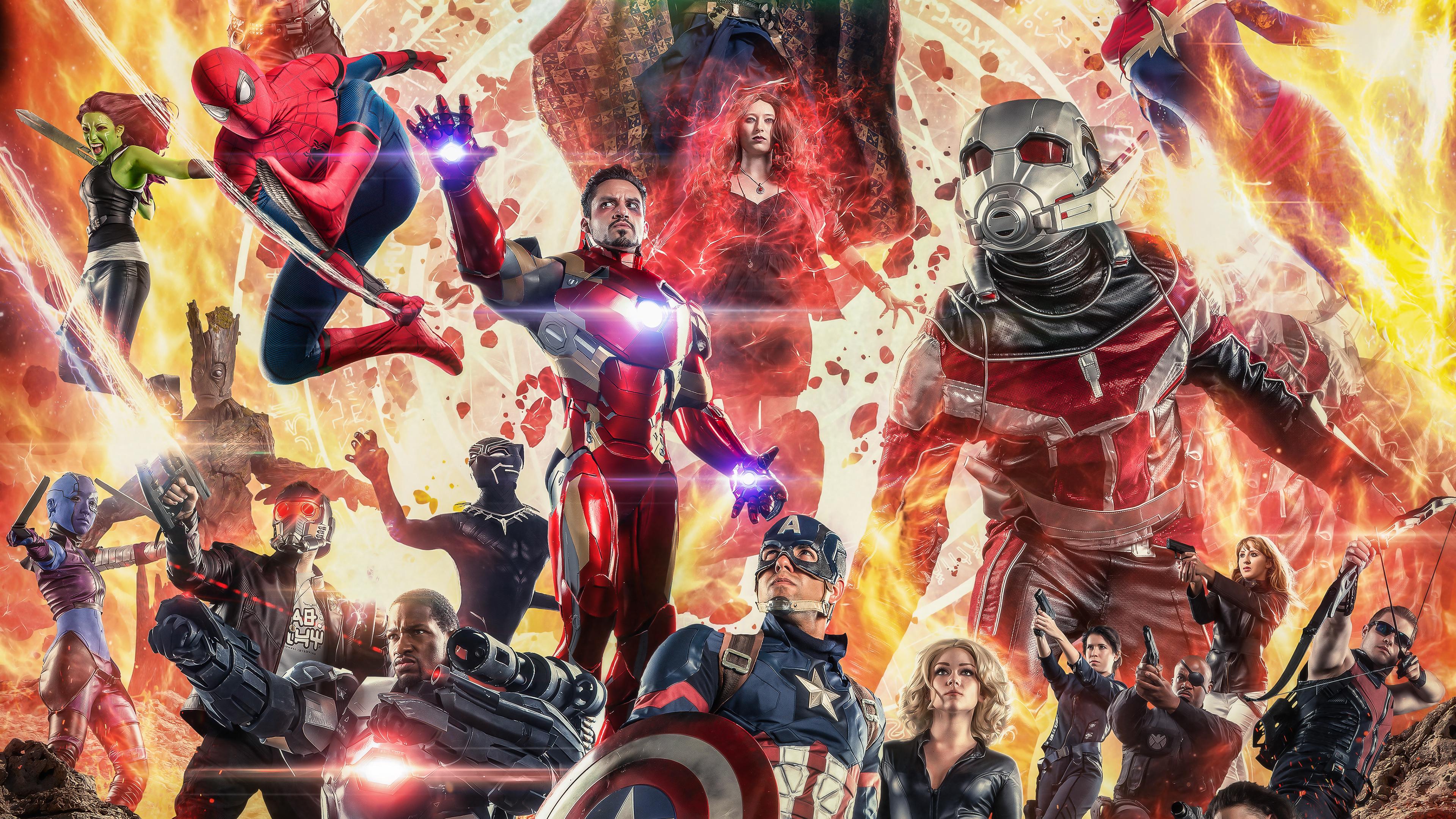 avengers infinity war cosplay 4k 1544923028 - Avengers Infinity War Cosplay 4k - movies wallpapers, hd-wallpapers, behance wallpapers, avengers-infinity-war-wallpapers, artist wallpapers, 4k-wallpapers, 2018-movies-wallpapers