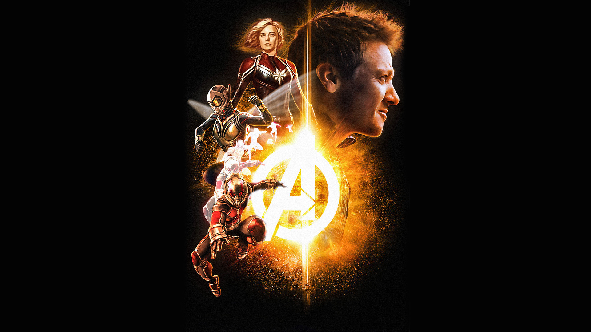 Wallpaper 4k Avengers Infinity War Hawkeye Wasp Captain Marvel Ant