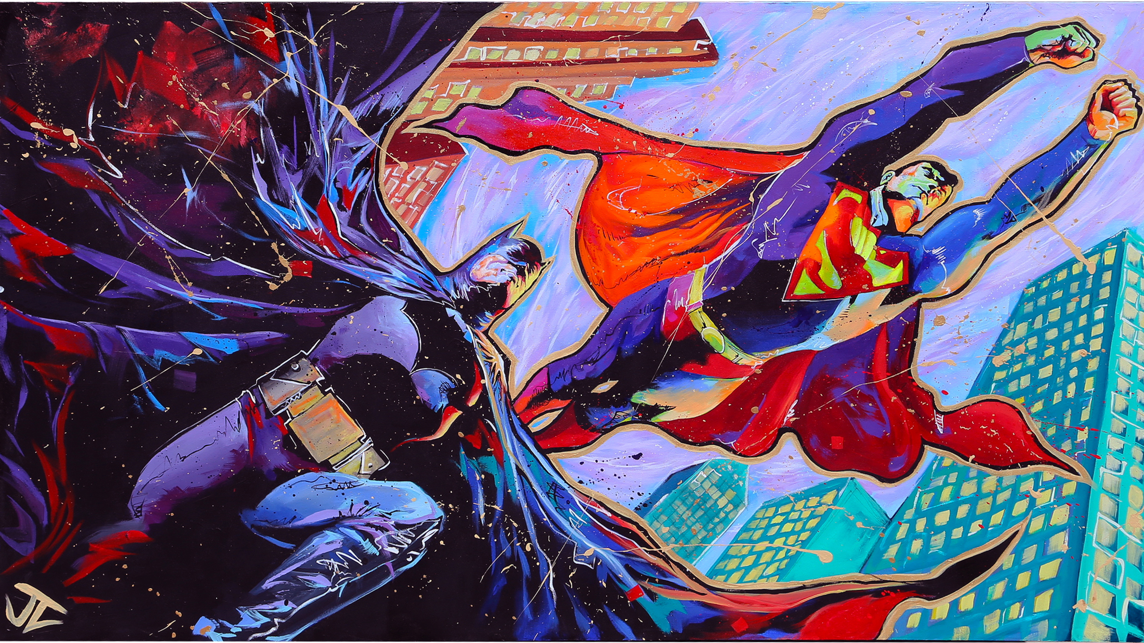 batman superman glitch art 4k 1544286754 - Batman Superman Glitch Art 4k - superman wallpapers, superheroes wallpapers, hd-wallpapers, digital art wallpapers, batman wallpapers, artwork wallpapers, artist wallpapers, 4k-wallpapers