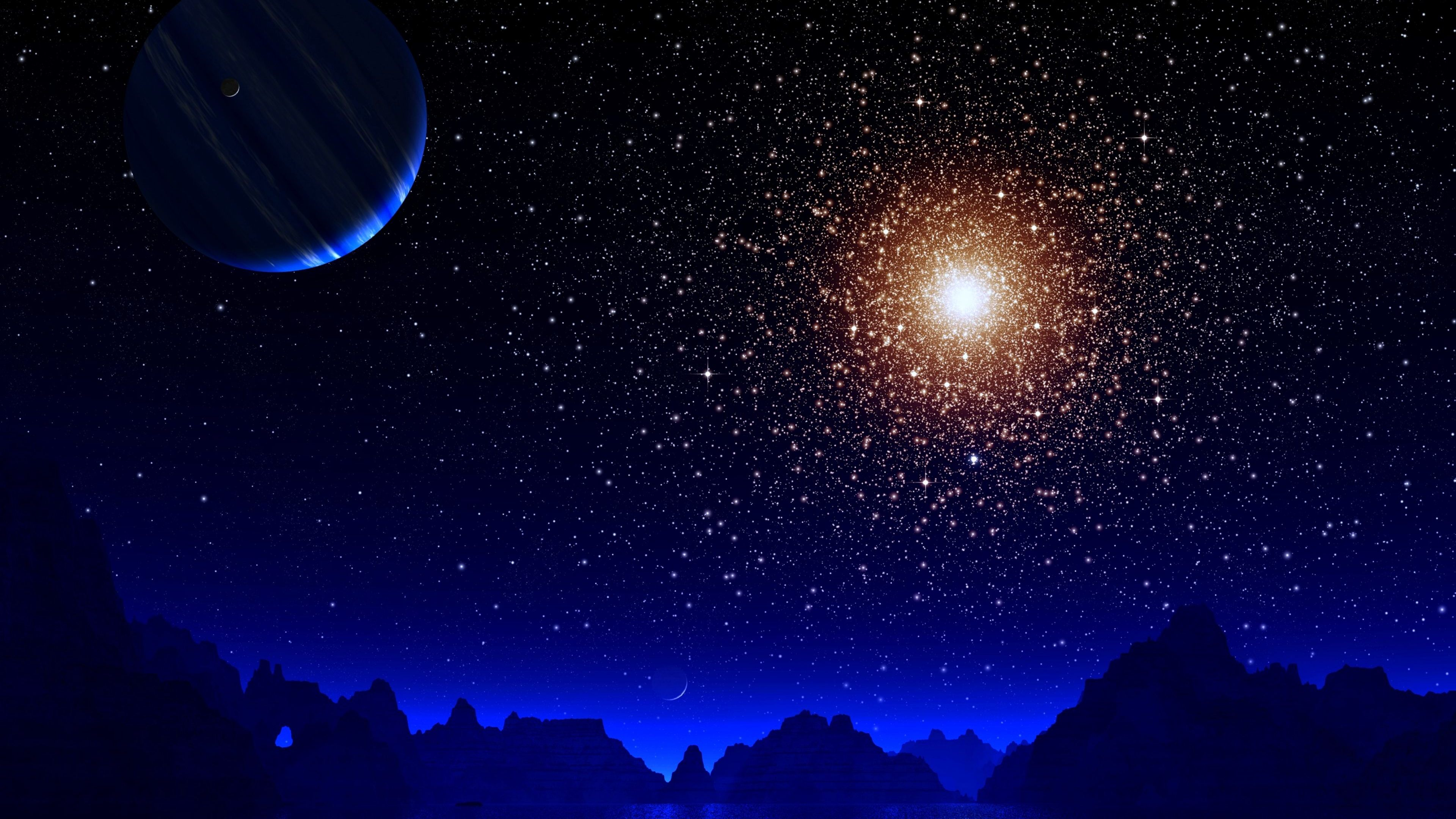 blue night moon stars earth 4k 1546278795 - Blue Night Moon Stars Earth 4k - stars wallpapers, night wallpapers, moon wallpapers, hd-wallpapers, earth wallpapers, digital universe wallpapers, digital art wallpapers, artwork wallpapers, artist wallpapers, 4k-wallpapers