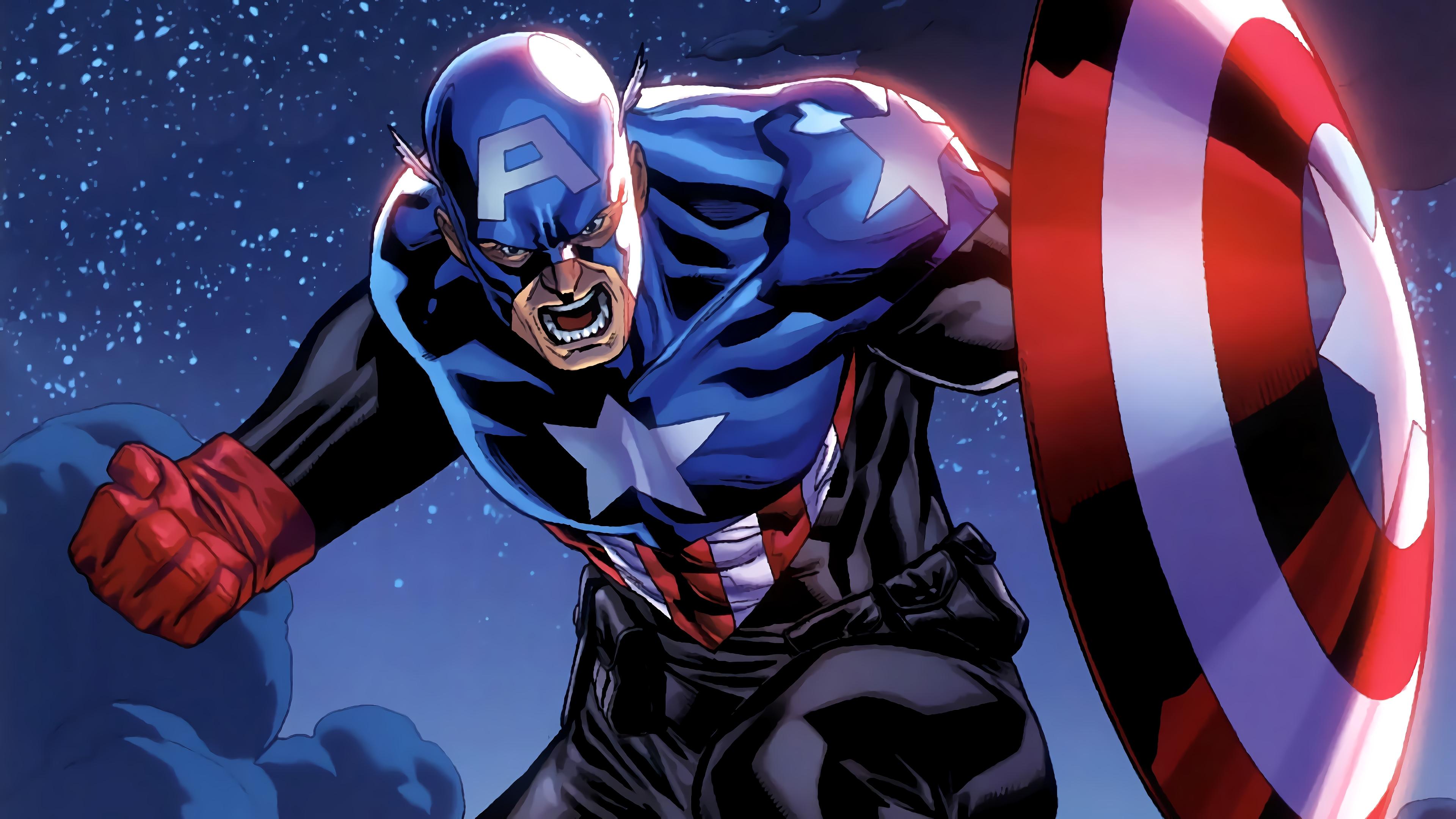 Captain America Marvel Comics 4K Wallpaper Marvel Comics ...