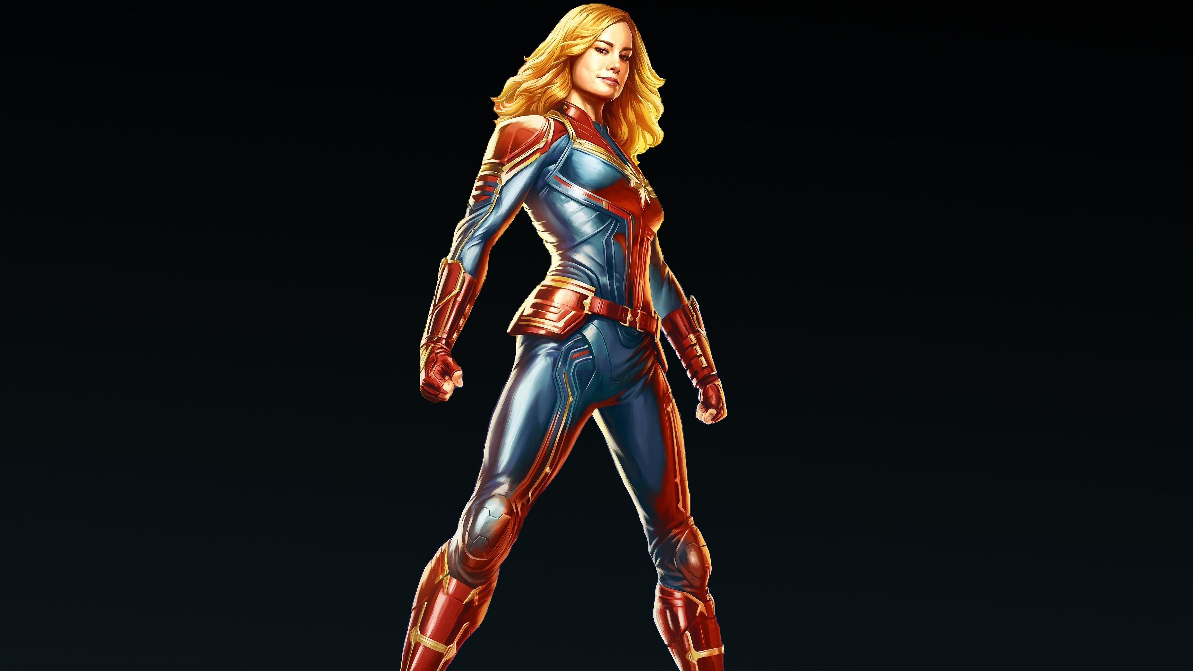 Wallpaper 4k Captain Marvel Carol Danvers 4k 4k Wallpapers Artist
