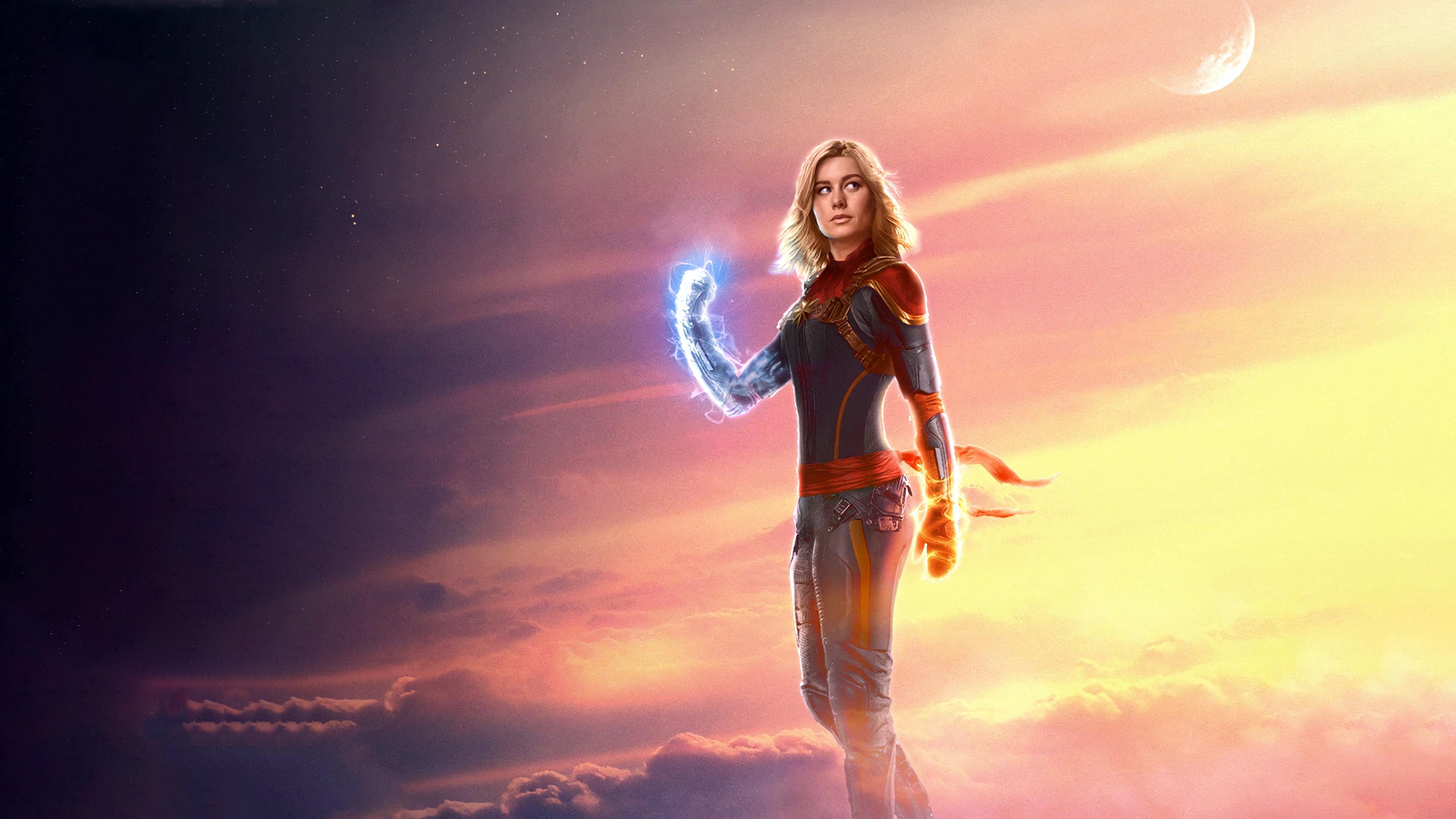 Wallpaper 4k Captain Marvel Carol Danvers Brie Larson Movie 2019 4k