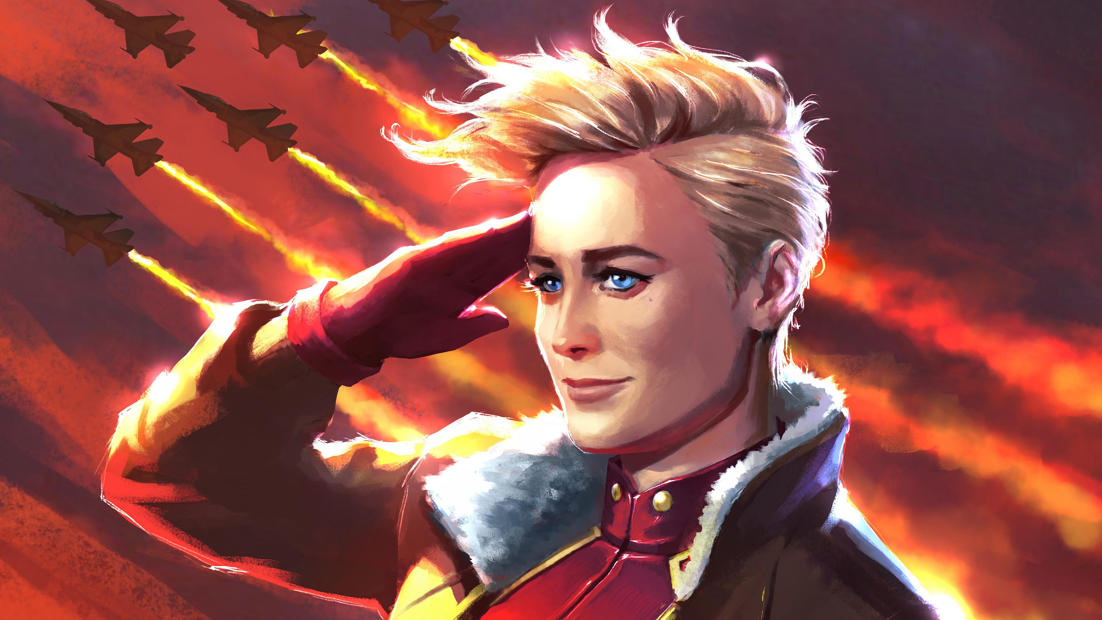 Wallpaper 4k Captain Marvel Movie 2019 Art Carol Danvers 4k