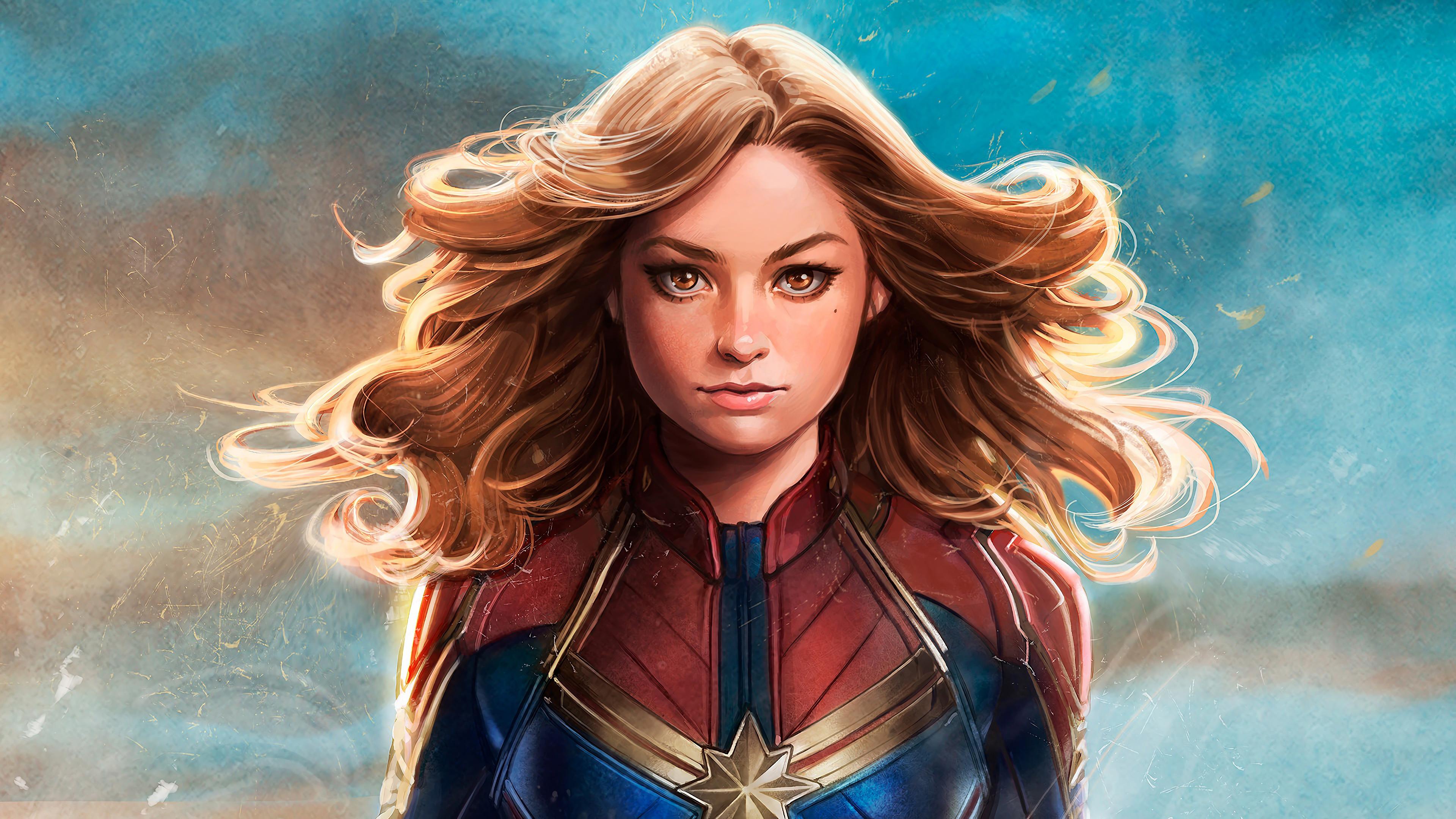 captain marvel movie 2019 carol danvers 4k wallpaper 1544829313 - Captain Marvel Movie 2019 Carol Danvers 4K Wallpaper - Marvel Comics, Captain Marvel (Movie 2019), Captain Marvel (Carol Danvers)
