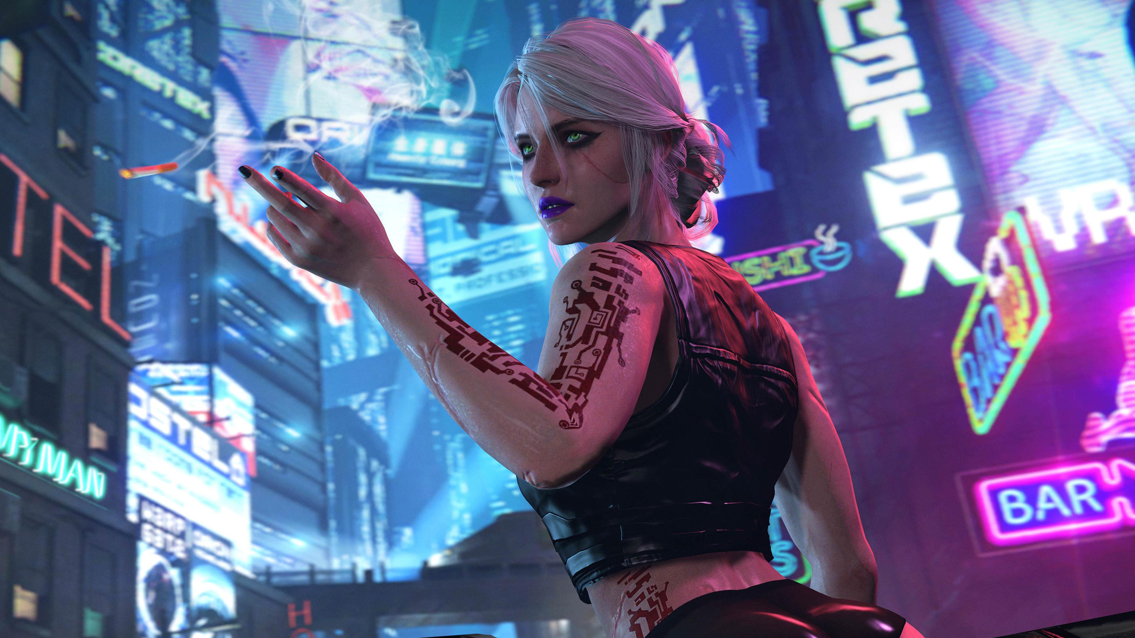 ciri cyberpunk 2077 4k 1545589473 - Ciri Cyberpunk 2077 4k - xbox games wallpapers, scifi wallpapers, ps games wallpapers, pc games wallpapers, neon wallpapers, hd-wallpapers, games wallpapers, fantasy girls wallpapers, cyberpunk 2077 wallpapers, ciri wallpapers, 8k wallpapers, 5k wallpapers, 4k-wallpapers