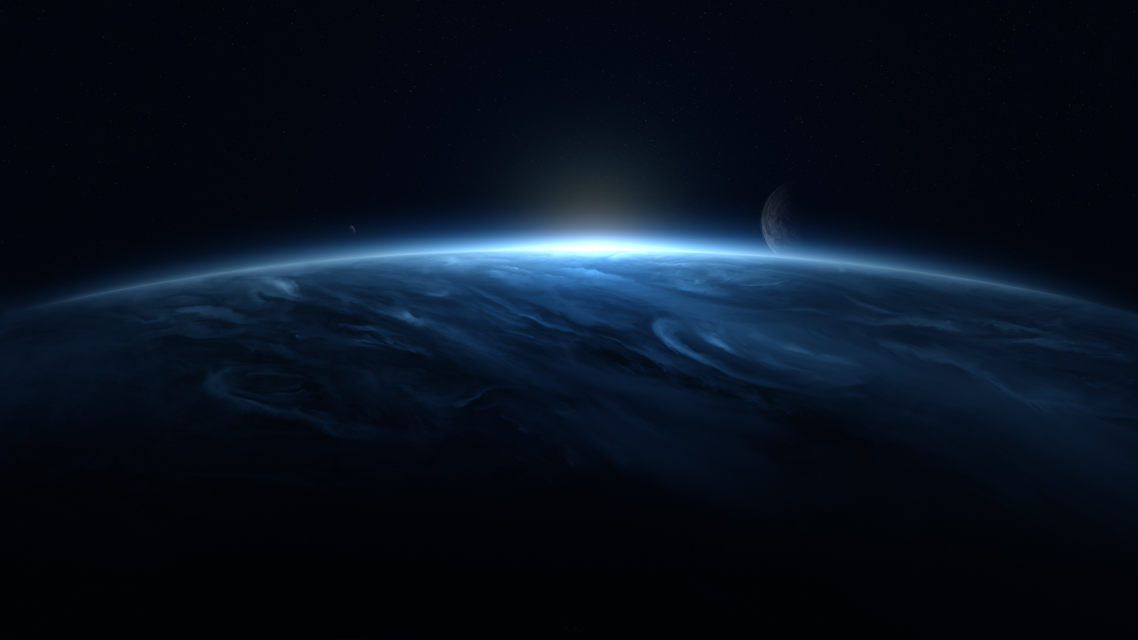 clouds planet moon flares stars science fiction digital art 1546278888 - Clouds Planet Moon Flares Stars Science Fiction Digital Art - stars wallpapers, planet wallpapers, moon wallpapers, hd-wallpapers, digital universe wallpapers, digital art wallpapers, clouds wallpapers, 4k-wallpapers