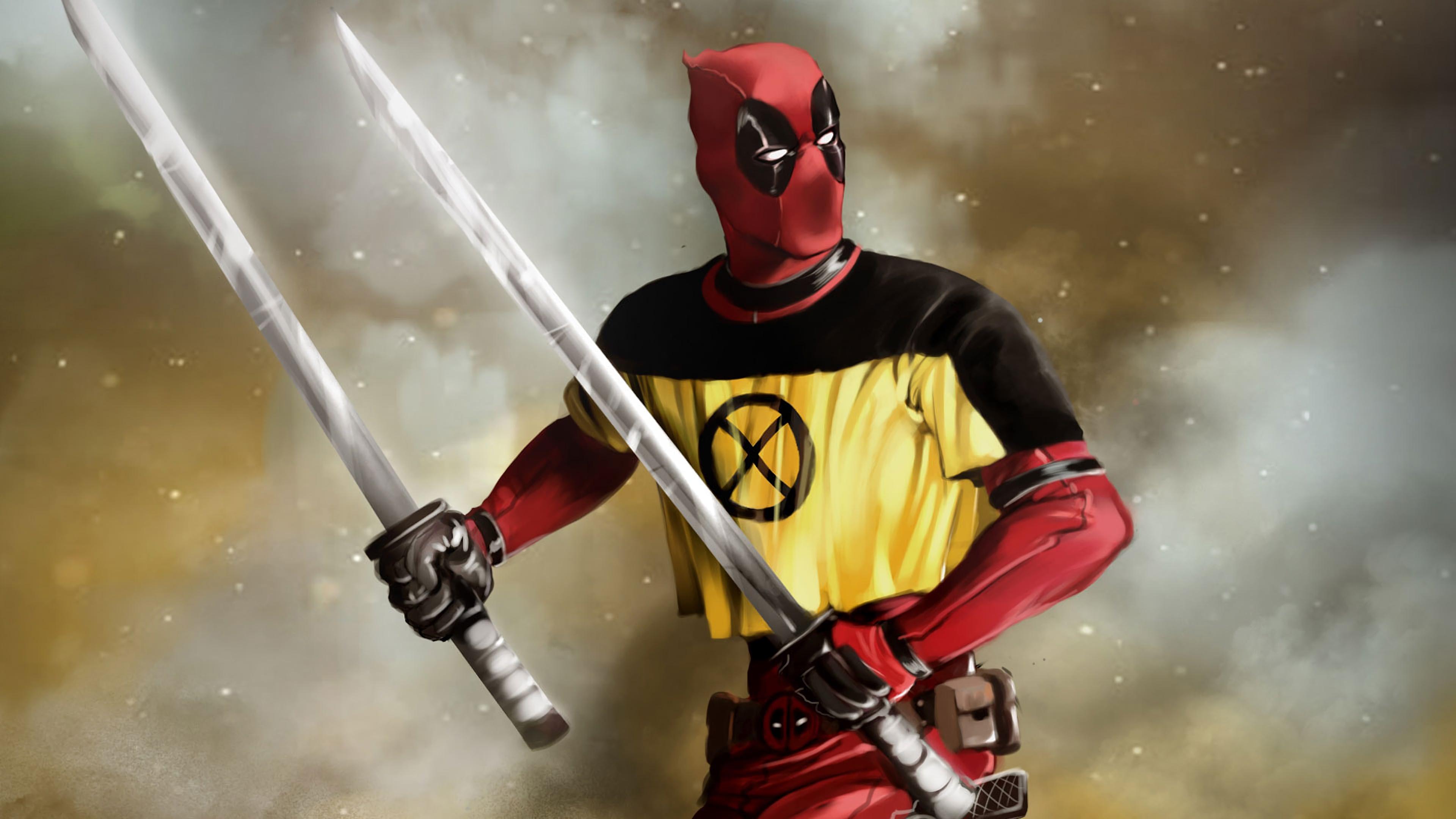 Deadpool 2 Movie Katana 4K Wallpaper