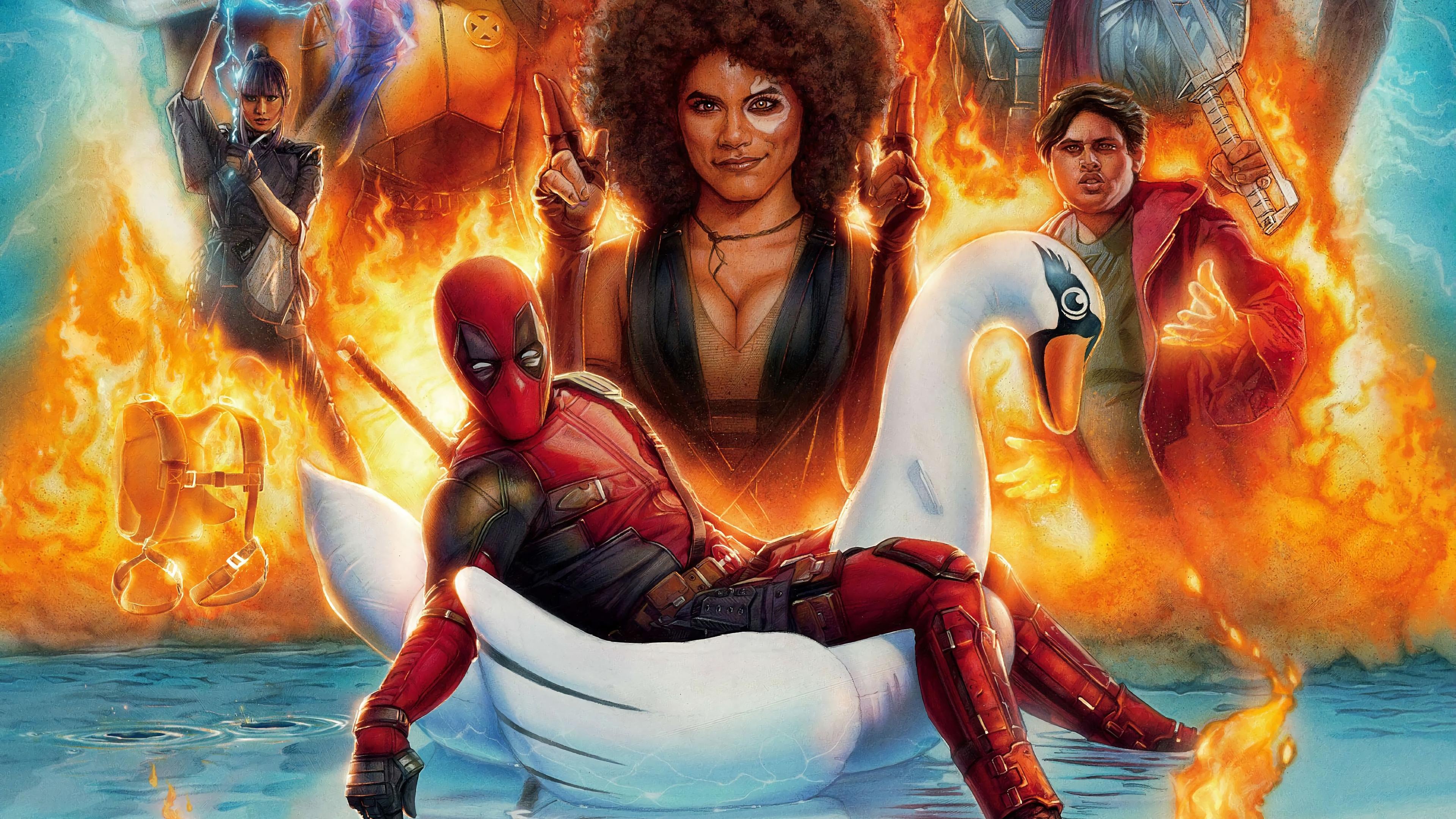 Deadpool And Domino Deadpool 2 Movie 4K Wallpaper Domino
