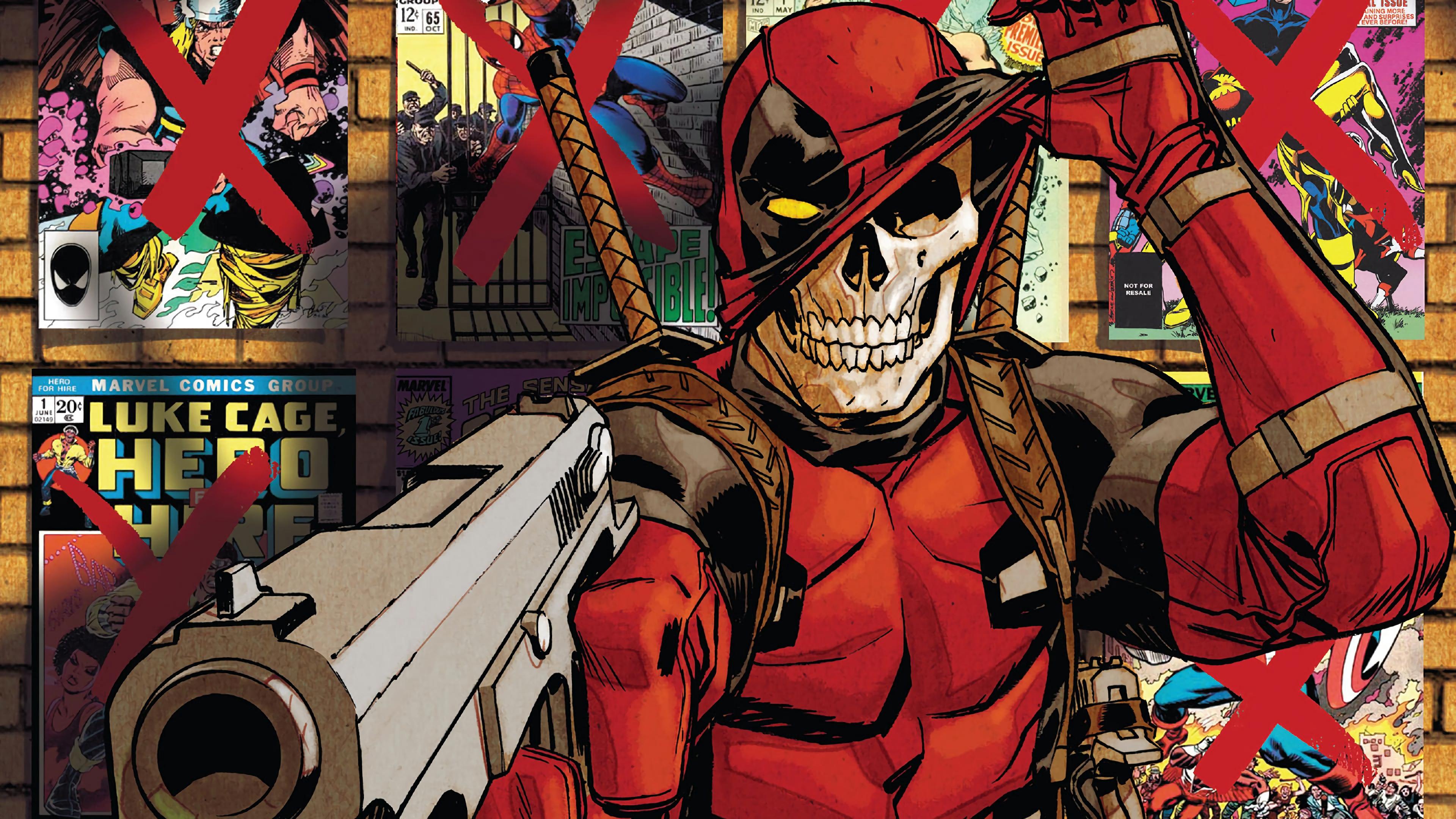 Wallpaper 4k Deadpool Skull Marvel Comics 4k Wallpaper Comics