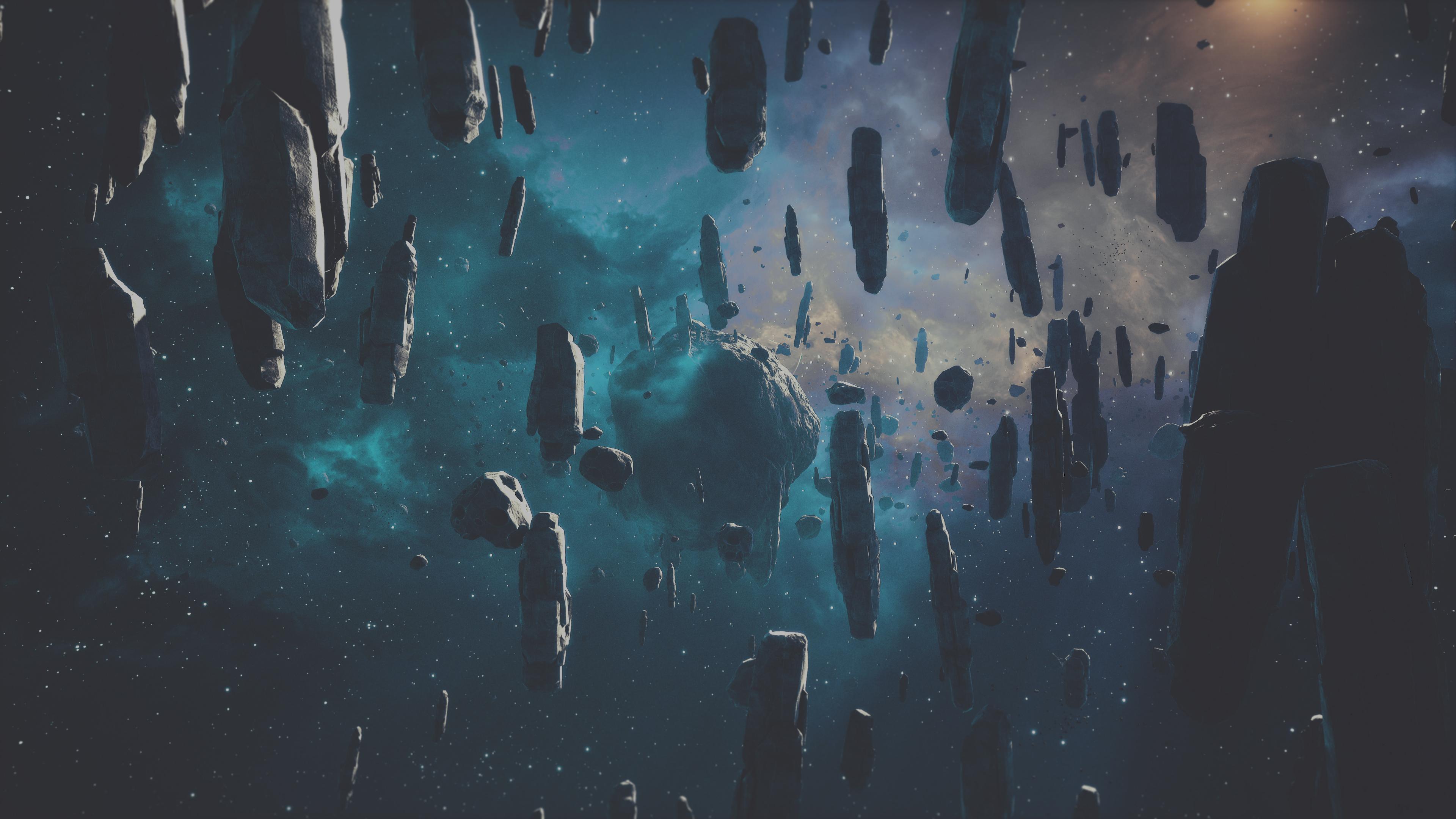 falling asteroid 4k 1546279337 - Falling Asteroid 4k - hd-wallpapers, digital universe wallpapers, asteroid wallpapers, 4k-wallpapers