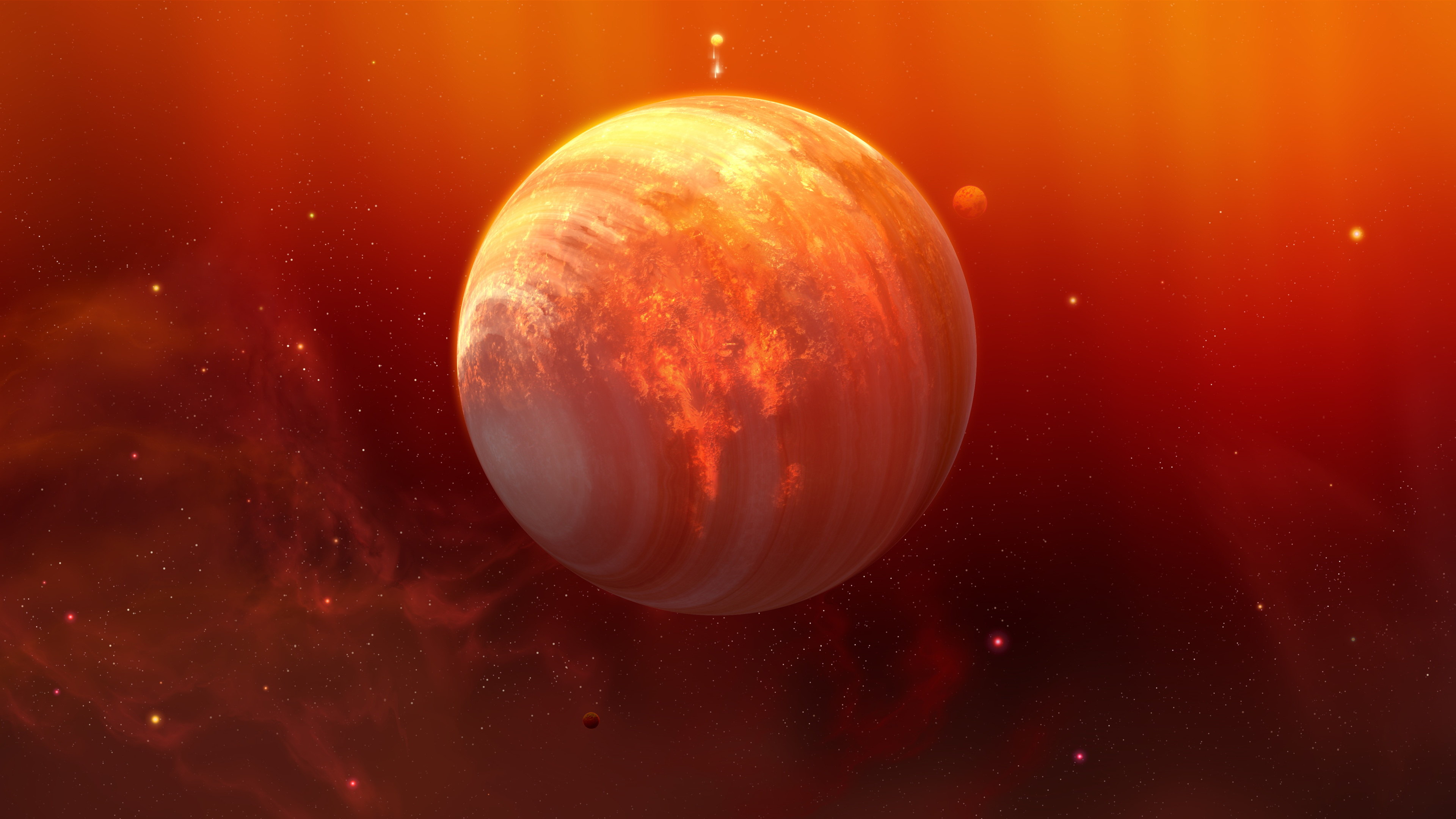 flaming planet 4k 1546279220 - Flaming Planet 4k - planet wallpapers, hd-wallpapers, digital universe wallpapers, digital art wallpapers, deviantart wallpapers, artwork wallpapers, artist wallpapers, 5k wallpapers, 4k-wallpapers