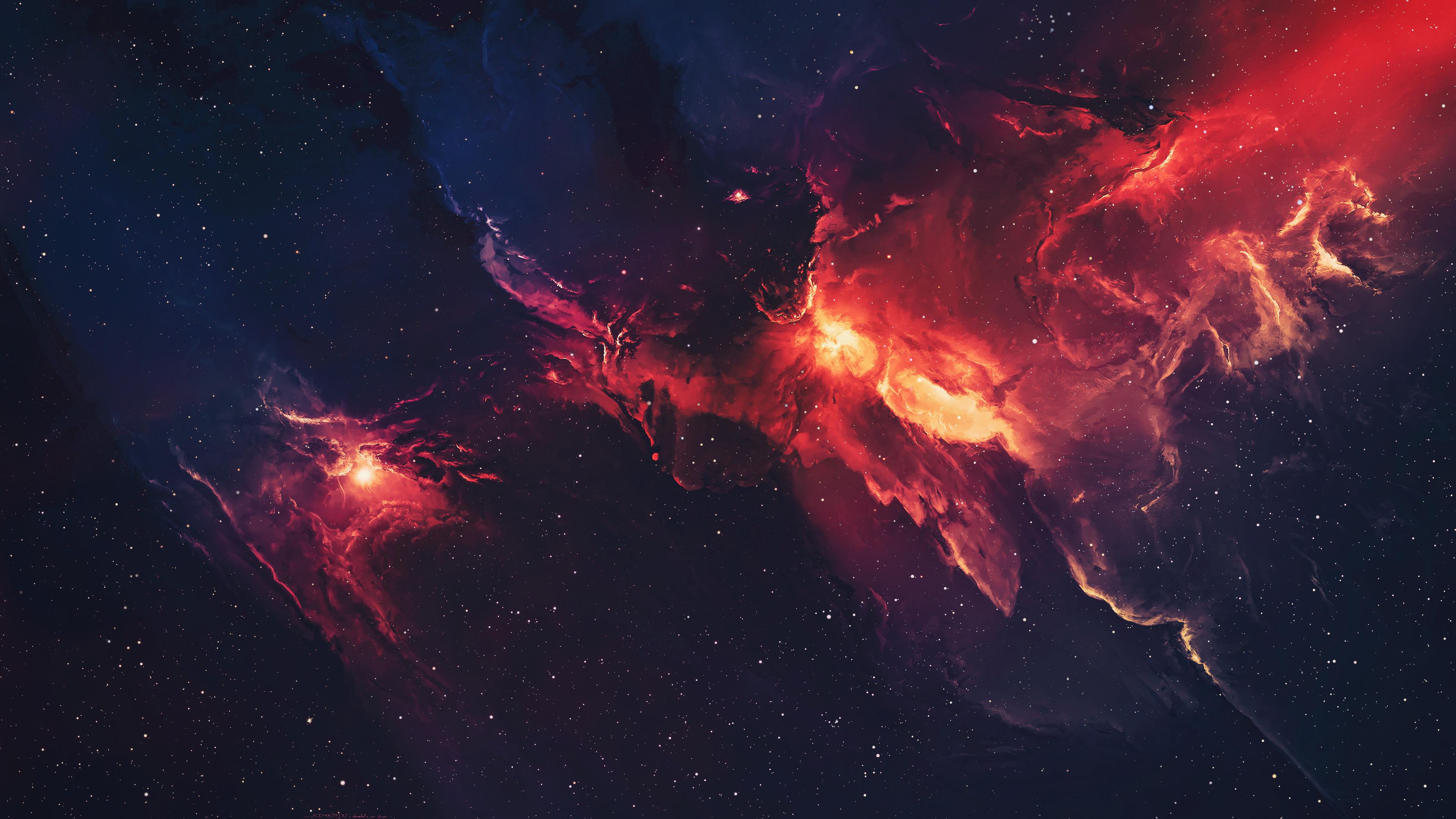 galaxy space stars universe nebula 4k 1546278977