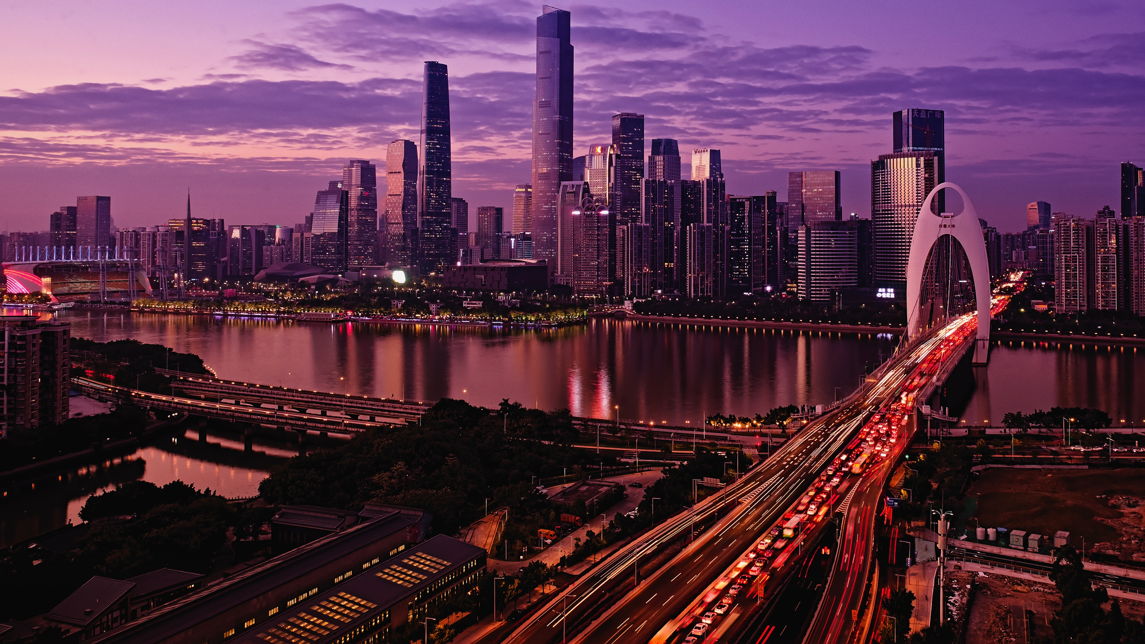 guangzhou 1546277771 - Guangzhou 4k - world wallpapers, traffic wallpapers, night wallpapers, hd-wallpapers, city wallpapers, china wallpapers, buildings wallpapers, bridge wallpapers, 4k-wallpapers